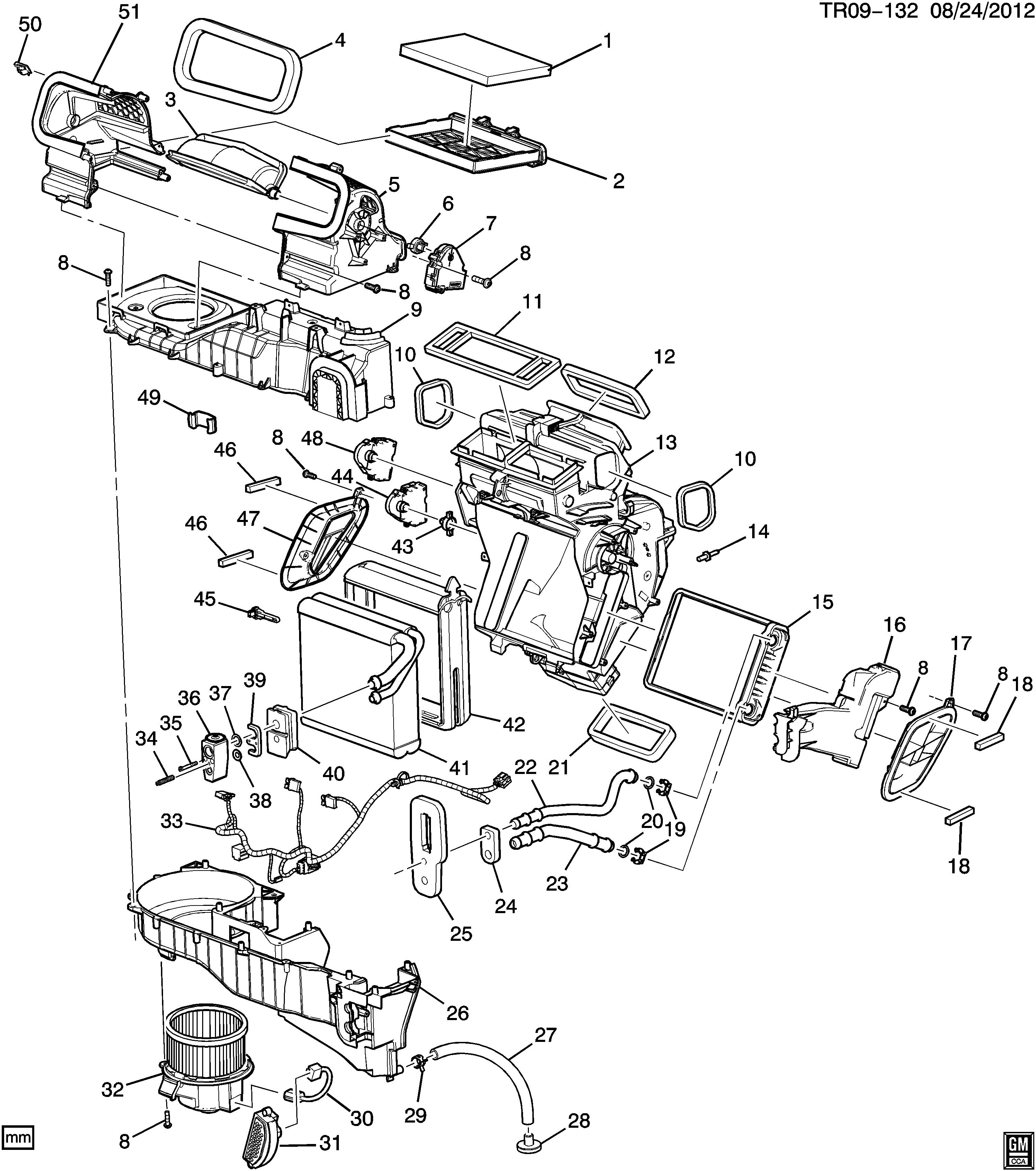buick enclave (2wd) rv1 a c \u0026 heater module asm (manual