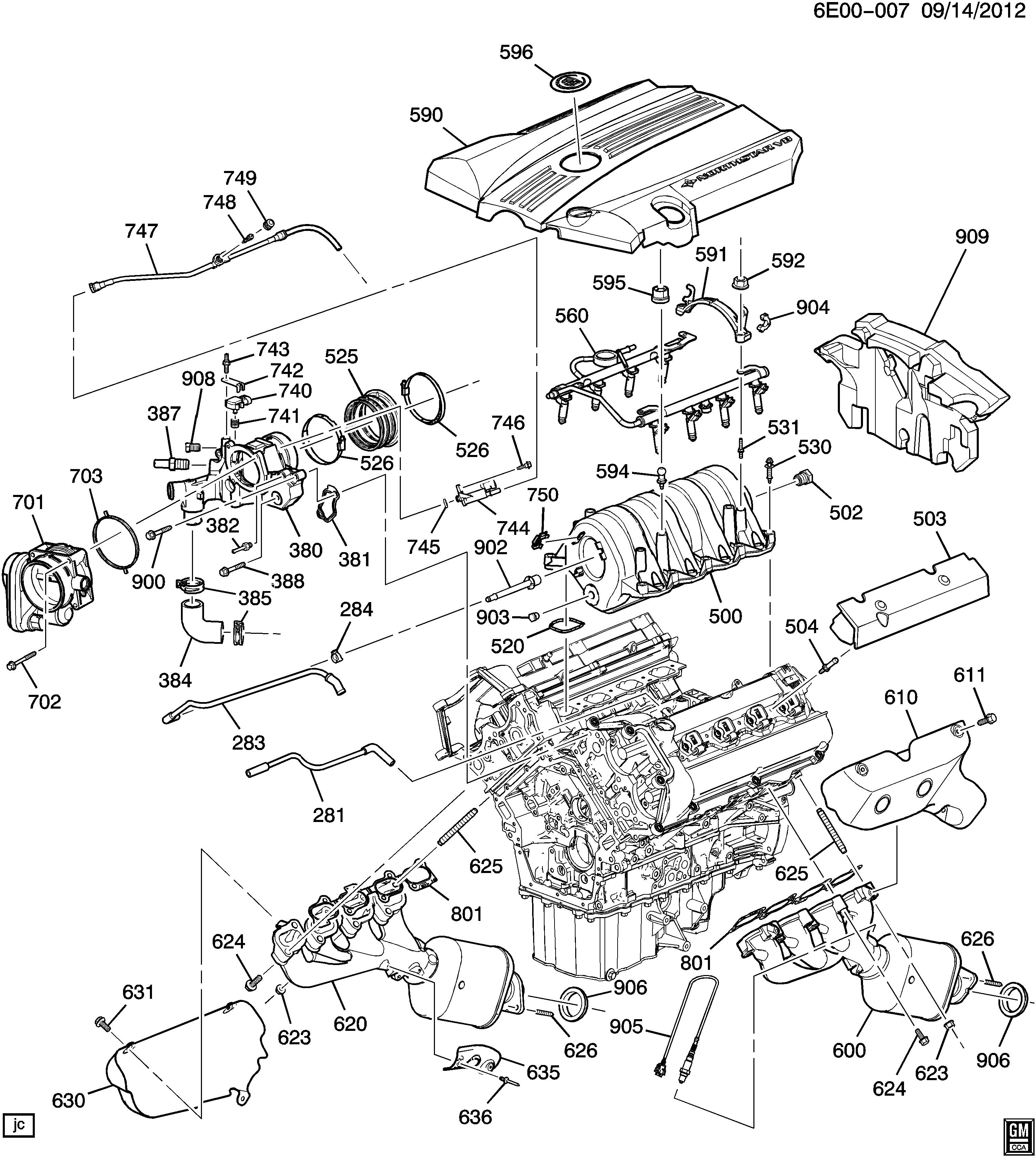 [DIAGRAM_38DE]  Cadillac SRX - E ENGINE ASM-4.6L V8 PART 5 MANIFOLDS & FUEL RELATED PARTS  (LH2/4.6A) > EPC Online > Nemiga.com | Cadillac Srx Engine Diagram |  | nemigaparts.com