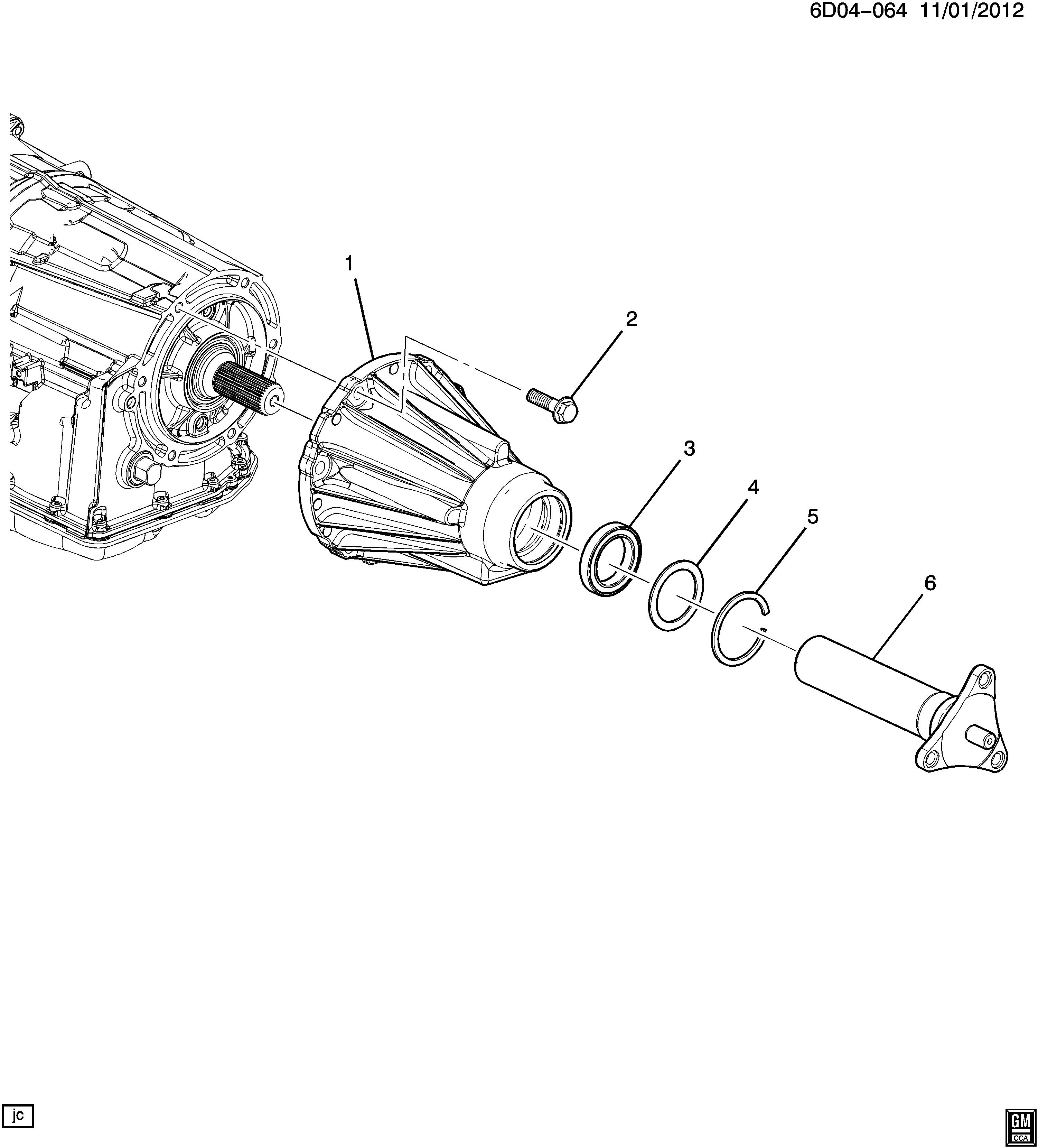 Cadillac STS - DX29 AUTOMATIC TRANSMISSION (MYC) (6L80) CASE