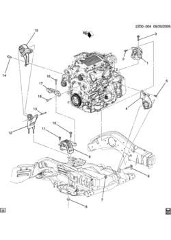 z67 engine & transmission mounting-v6 (lx9/3 5-8)