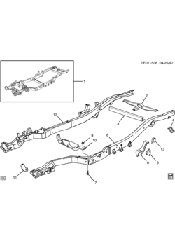 S10 PICKUP 2WD - Frames-springs-shocks-bumpers > Chevrolet EPC