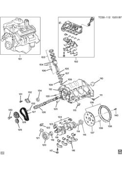 gmc k1500 pickup sierra 4wd 6 cylinder engine 8 cylinder engine GMC 270 Inline 6 ck engine asm 4 3l v6 part 1 block internal parts lb4 4 3z
