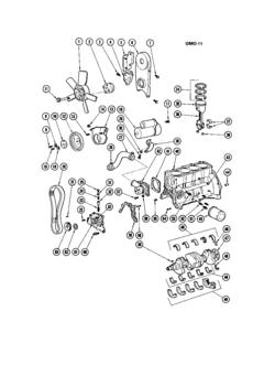 pontiac astre 4 cylinder engine 6 cylinder engine 8 cylinder GMC Active Suspension Parts h 140 engine part i