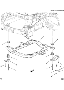 gmc acadia (awd) body mounting air conditioning audio