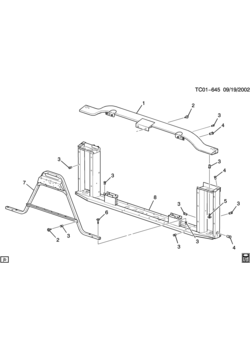 GMC SIERRA 1500 - 03,43,53 Bodystyle (2WD) - Cooling system