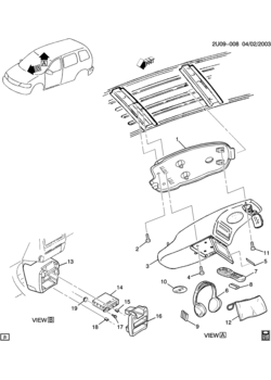 pontiac montana apv body mounting air conditioning audio Home Entertainment Systems u entertainment system video disc u32