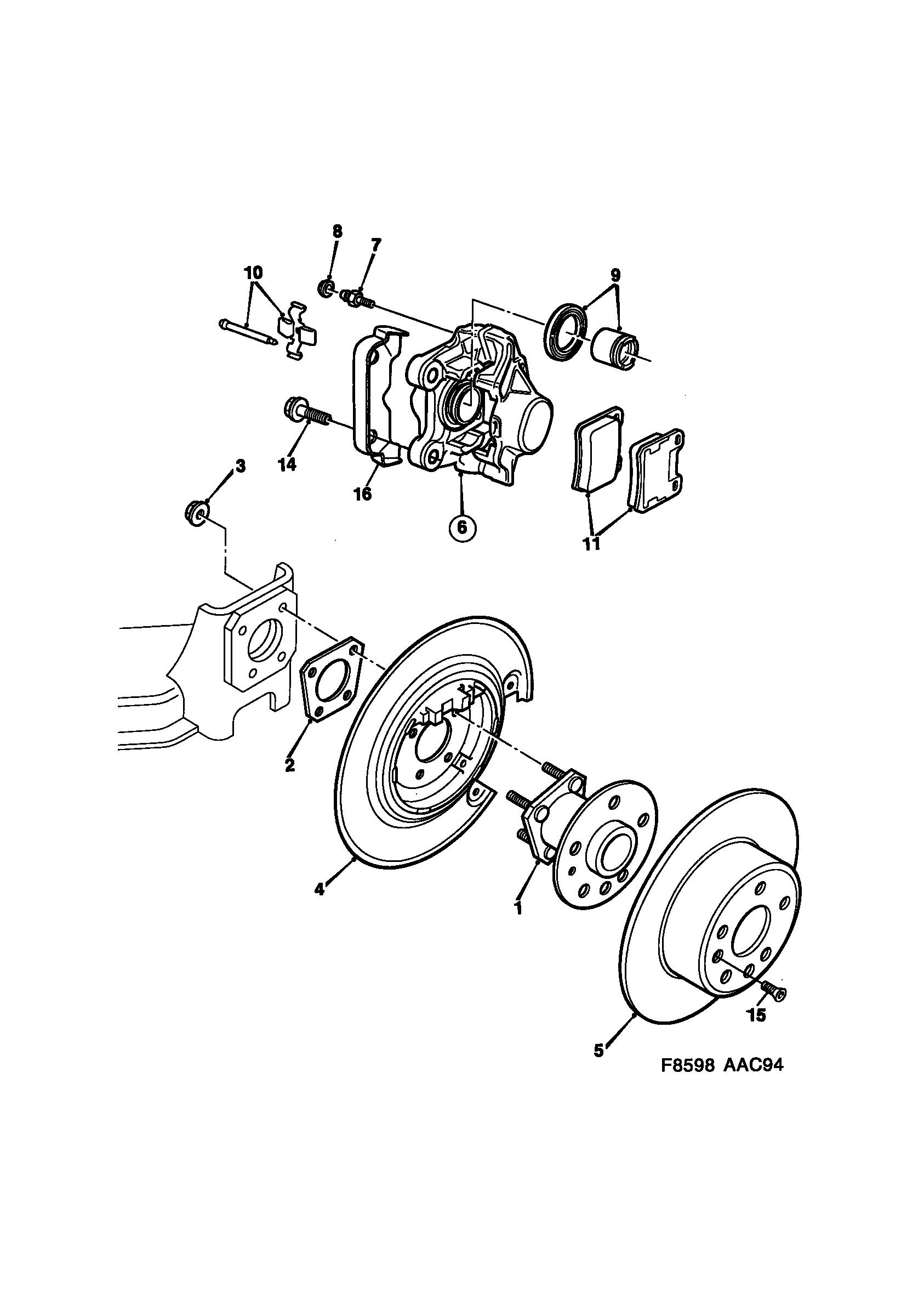 Saab 900 Brake Disc And Caliper 1994 1998 Epc Online Nemigacom Brakes Diagram Spare Parts Catalog