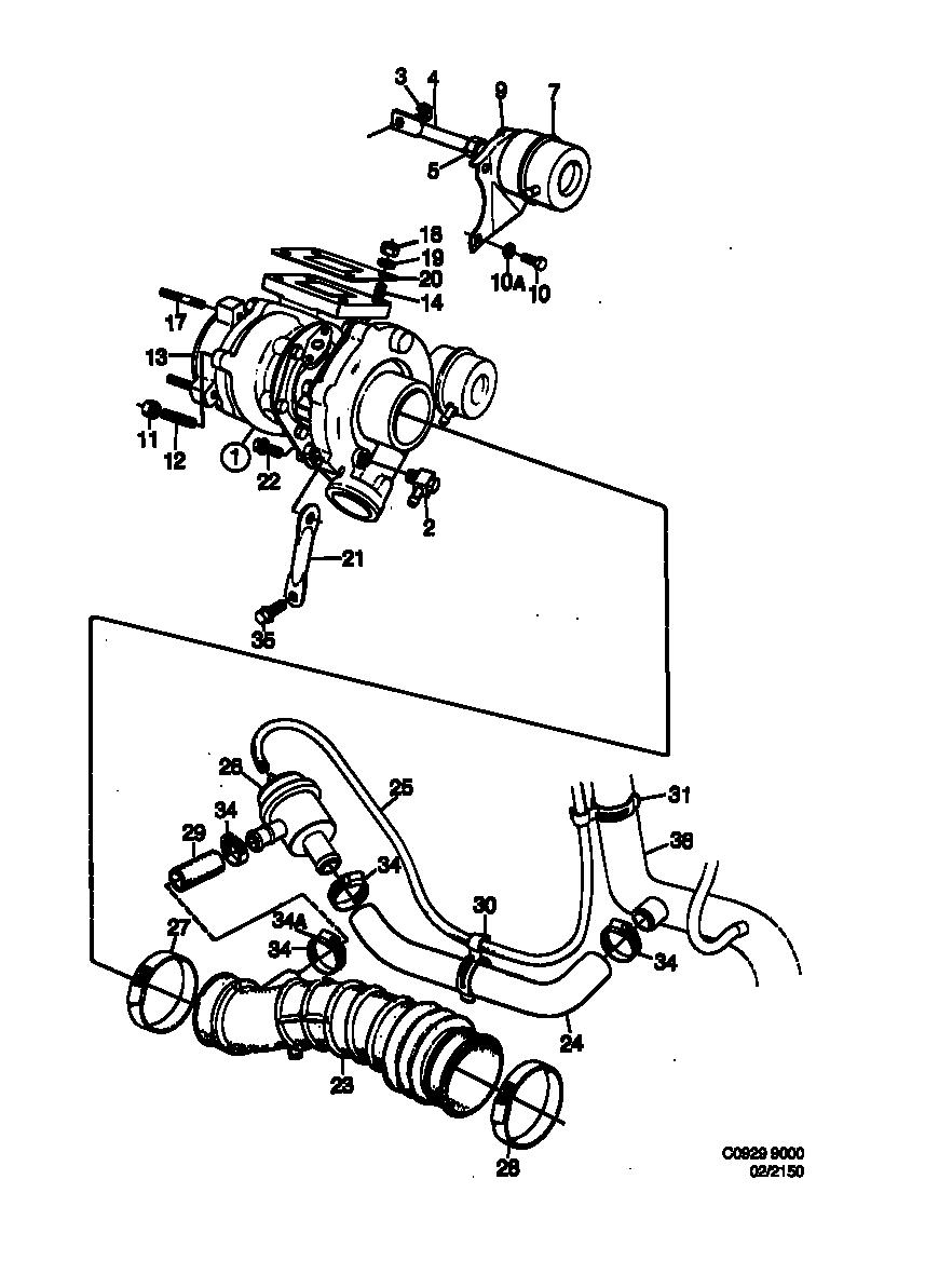 Saab 9000 Turbocharger T25 Td04 1990 1993 Turbo Epc Electrical Wiring Diagram