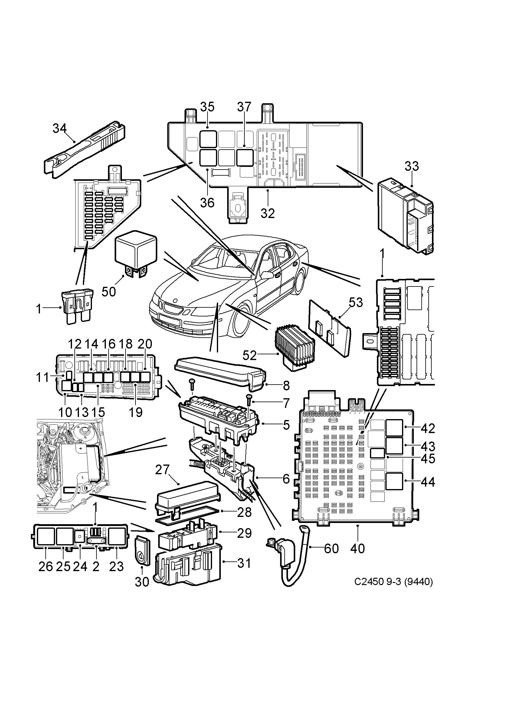 Saab 9-3 (9440) / Verzeichnis Autoteilen EPC