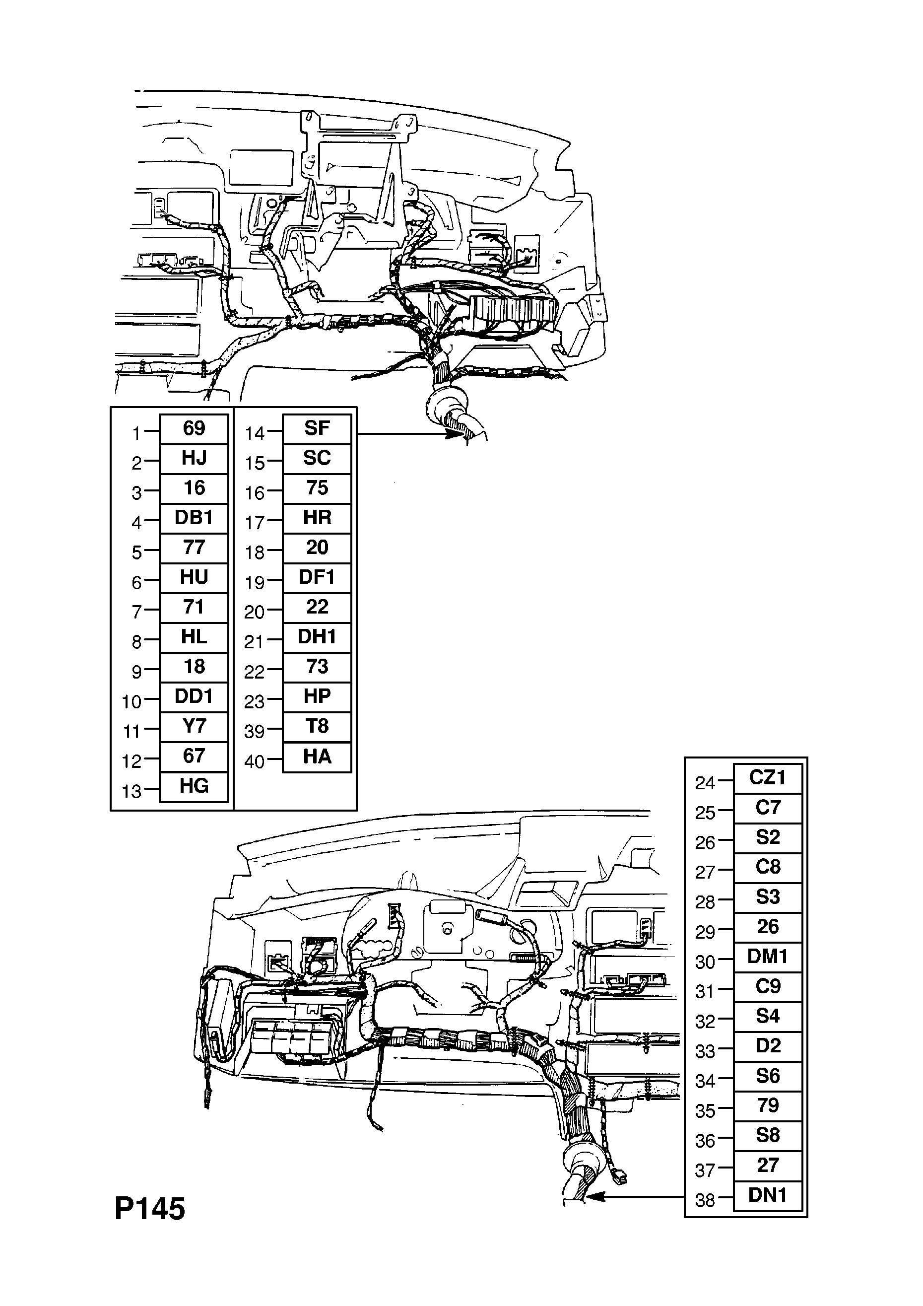96AA6 Opel VECTRA-A - Instrument Panel Wiring Harness (contd ... on willys wheels, willys starter diagram, willys suspension, willys diesel conversion, willys horn, willys manuals, willys accessories, willys carburetor, jeep electrical diagram, willys oil filter, willys clock, willys exhaust diagram, 1944 willys wire diagram, willys headlights, willys firing order, willys 3 speed transmission, willys brakes, willys chassis, willys mb motor diagram, willys parts,