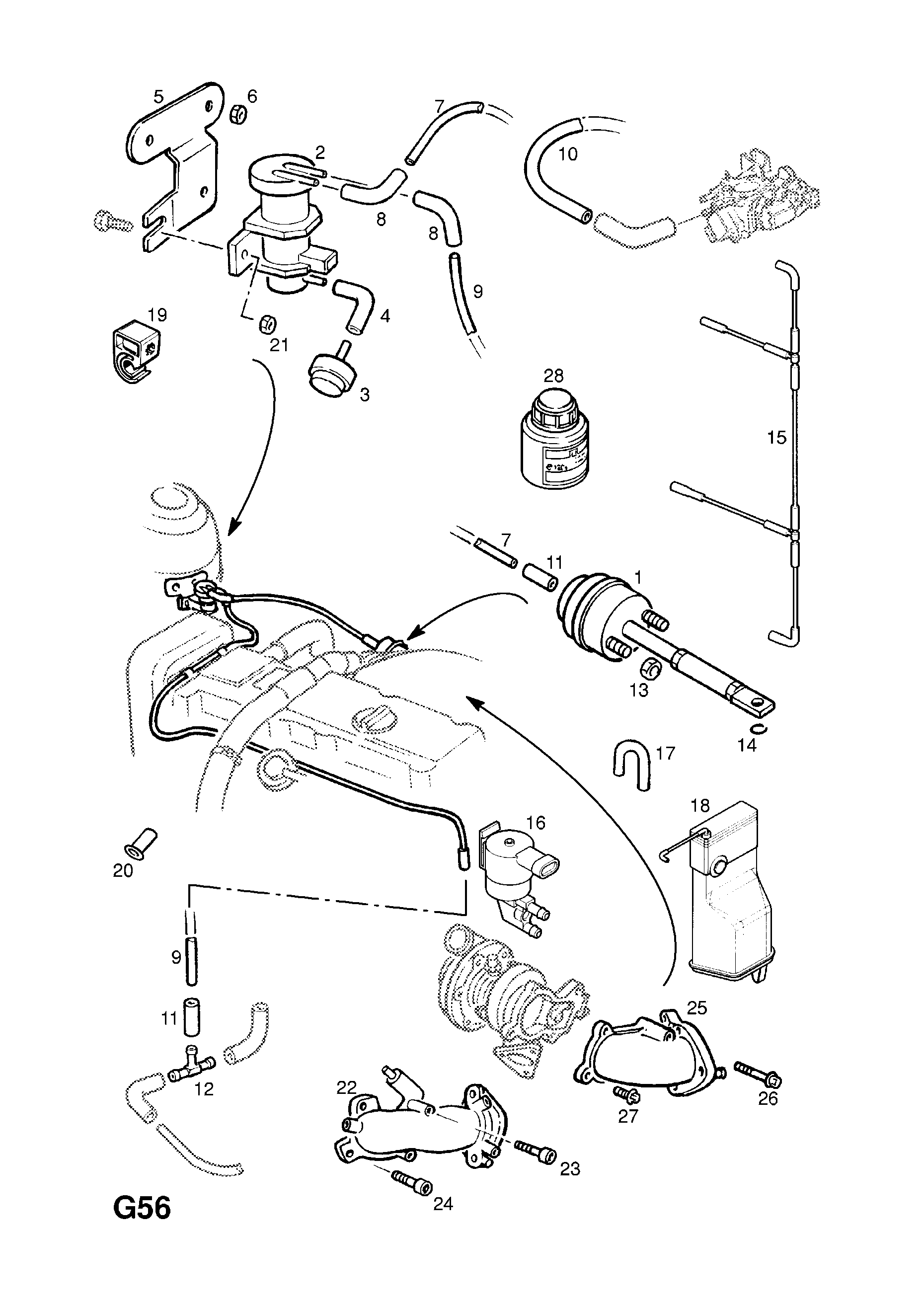 Opel Vacuum Diagram - Schematics Online on