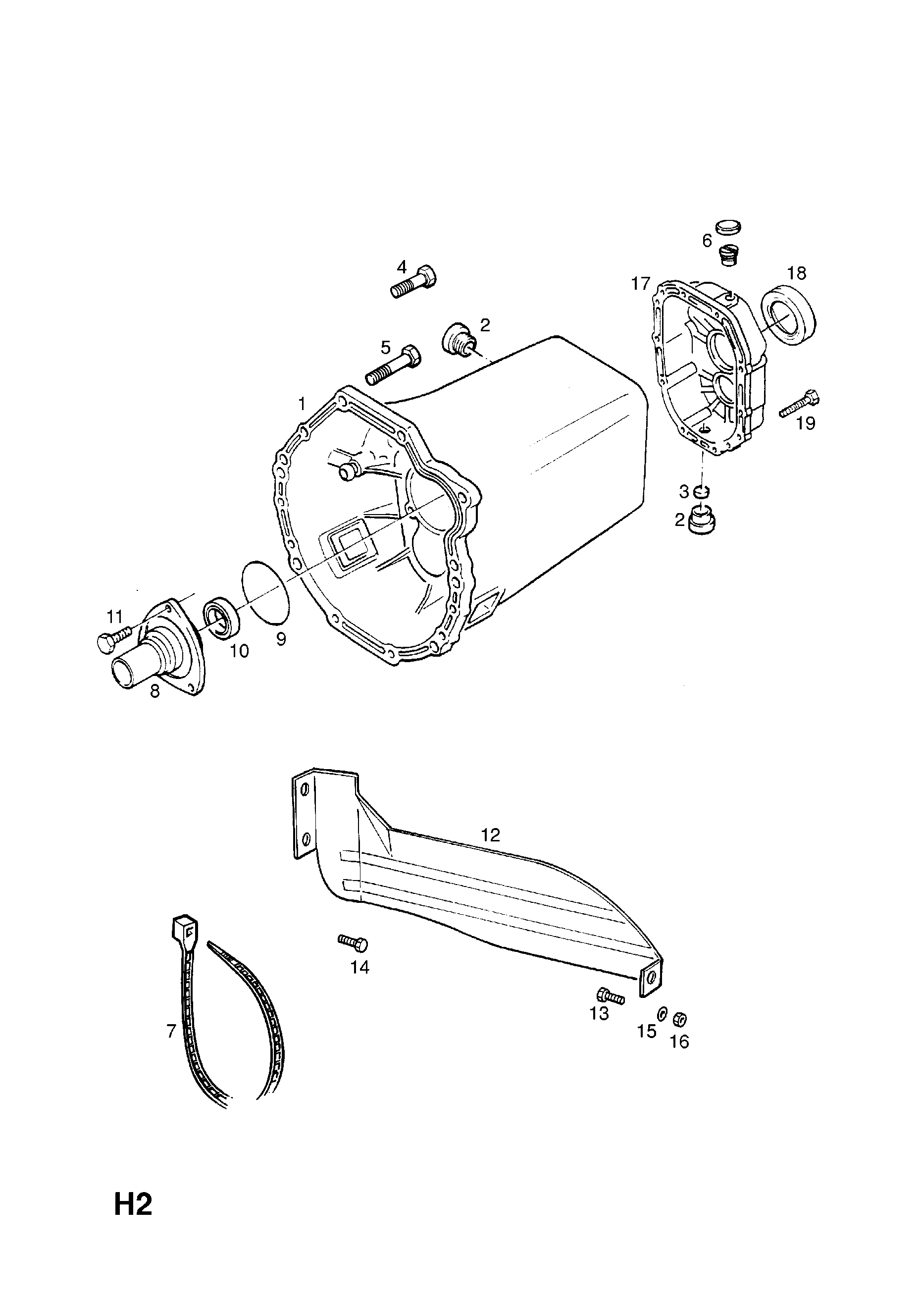 Vauxhall Senator B Transmission Case And Covers Opel Epc Online Diagrams
