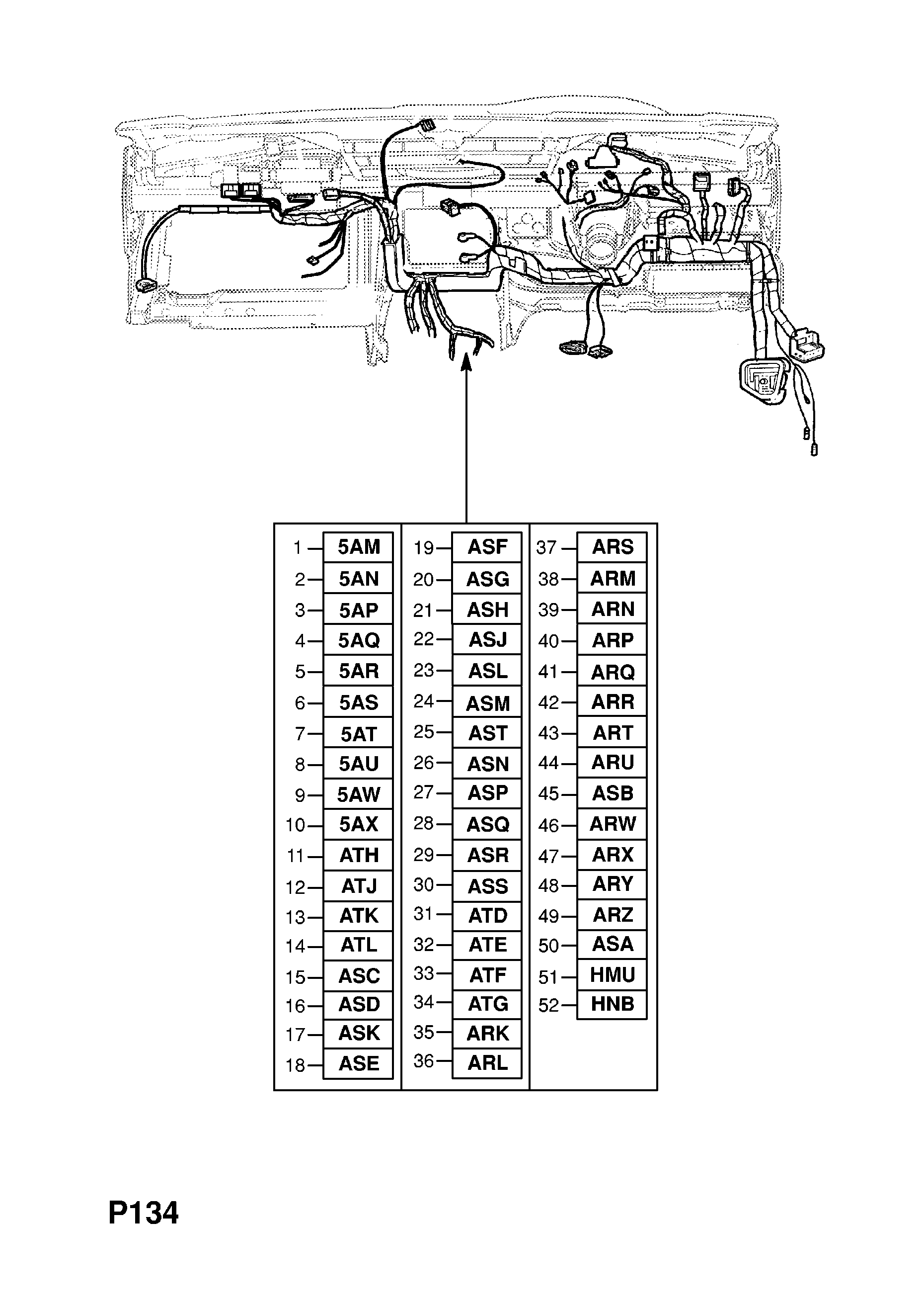 instrument panel wiring harness (contd )
