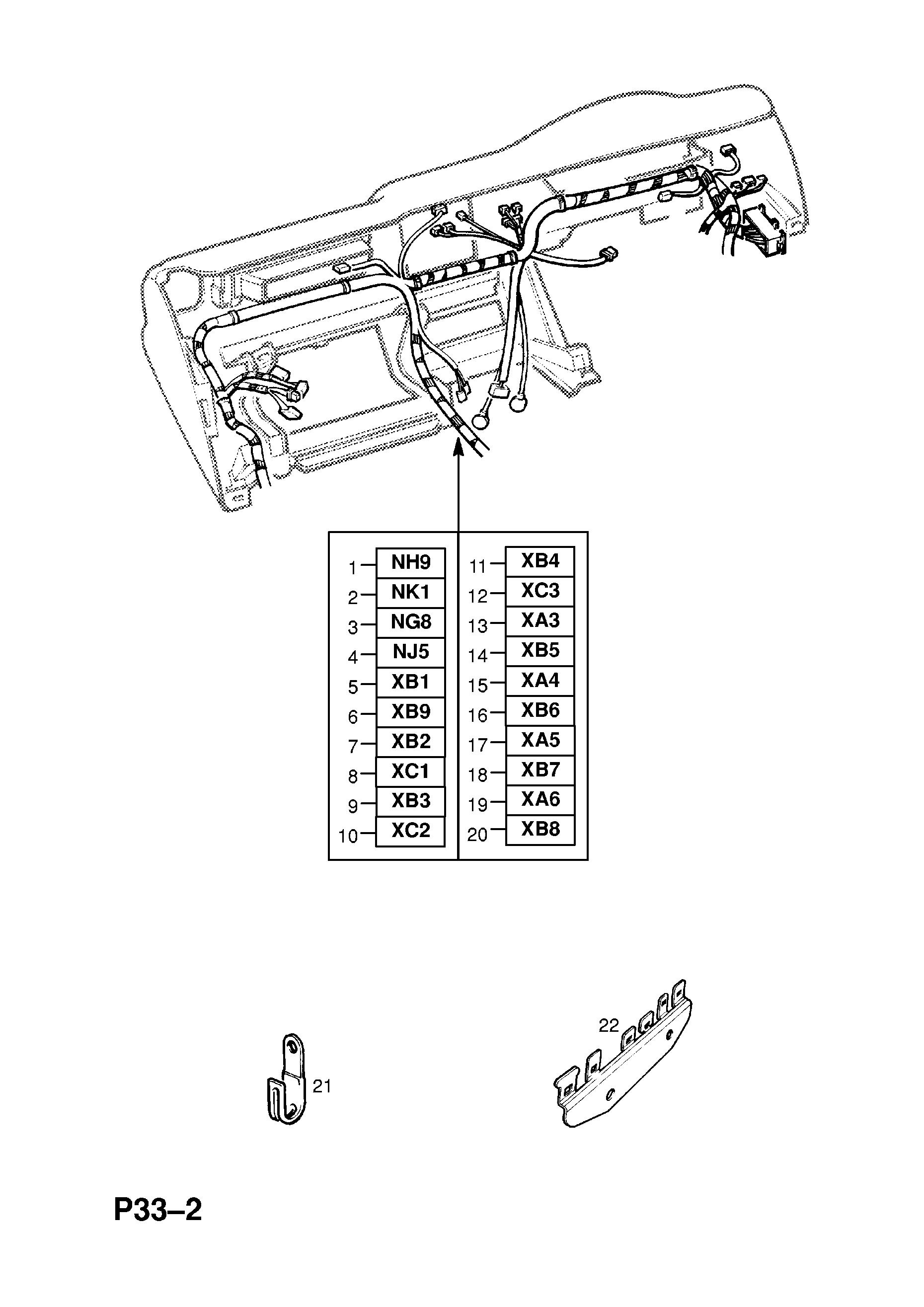 opel frontera-b / spare parts catalog epc
