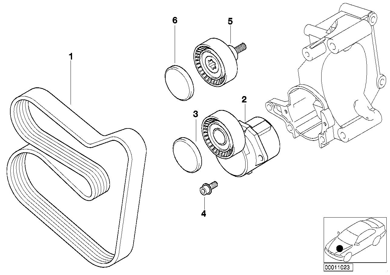 318i belt diagram bmw 318i lim belt drive water pump alternator bmw etk online  bmw 318i lim belt drive water pump