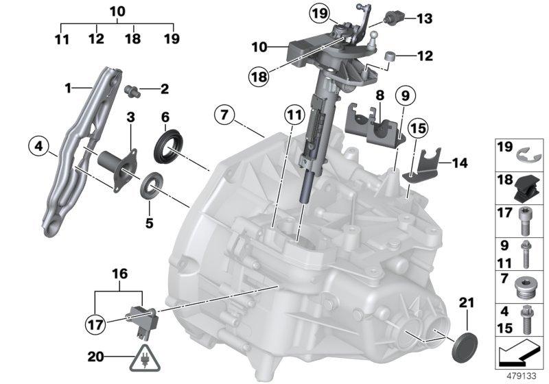 Mini One Gs6 55bg Single Gearbox Parts Bmw Etk Online Nemigacom