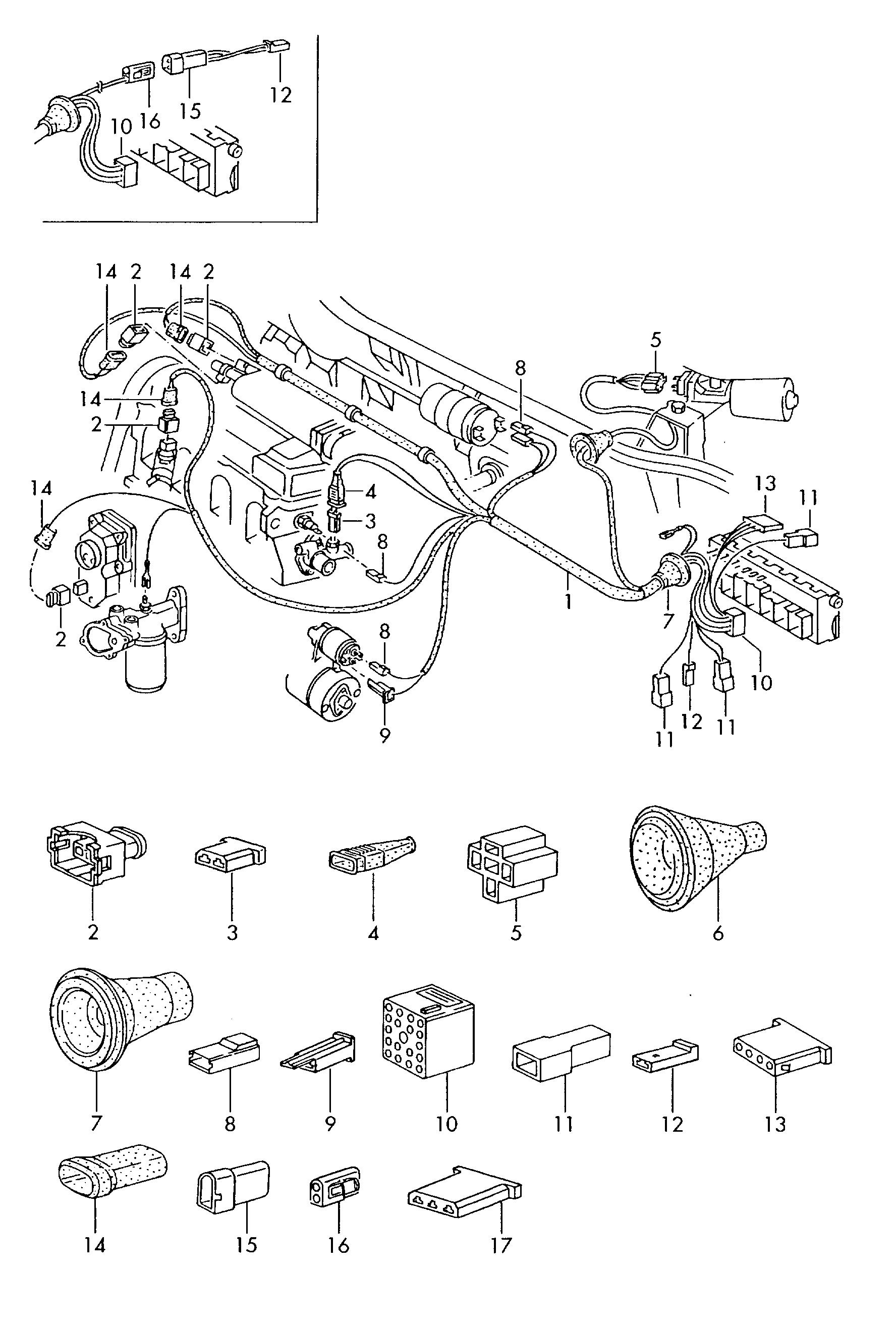 1979 Vw Wiring Harness Schematic Diagram Bushtec Volkswagen Golf Cabriolet 1980 Front
