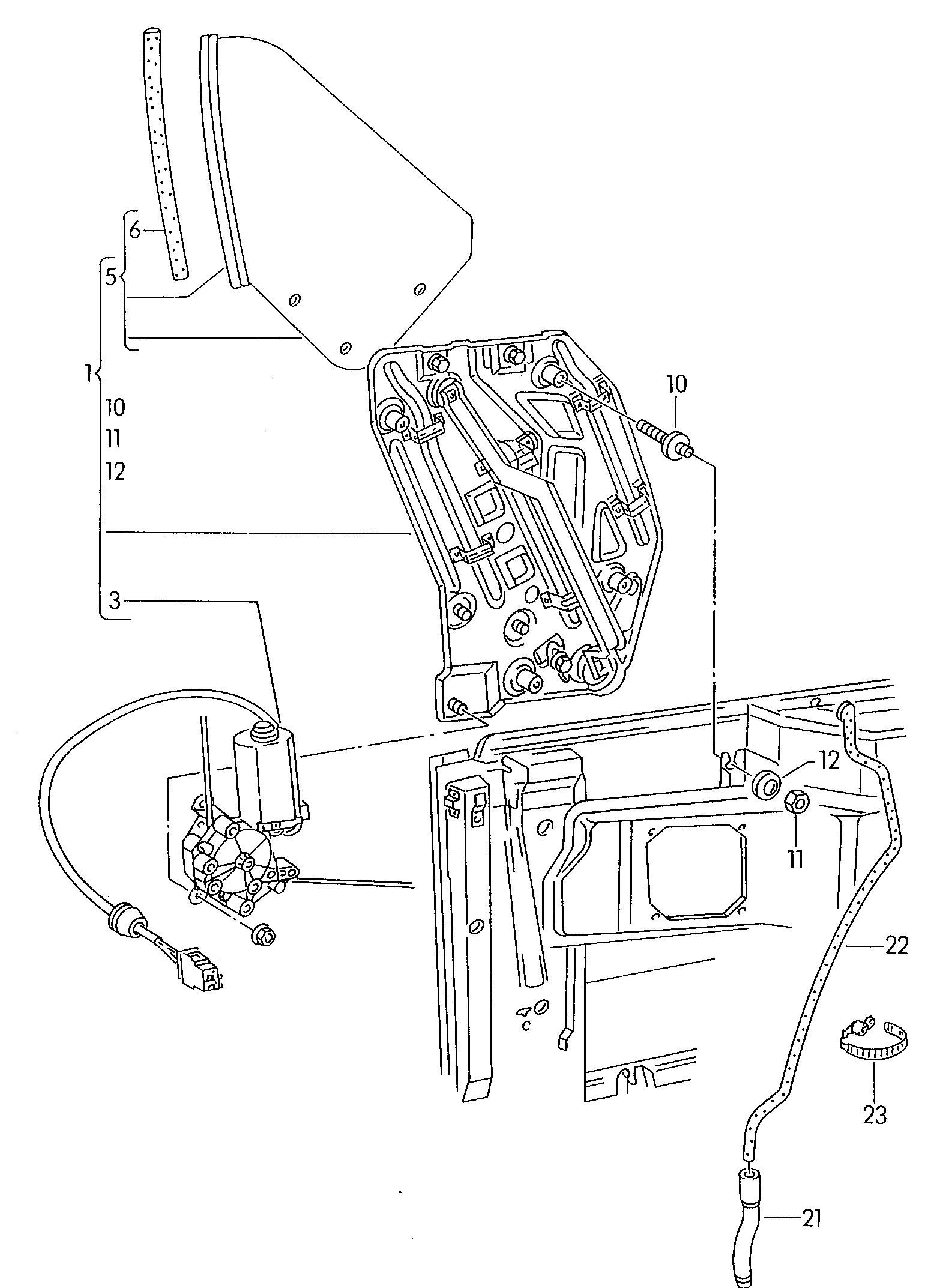 ORIGINALE VW AUDI SEAT SKODA Beetle Cabrio penna BULLONE m8x18 x10 n0445113 PZ.