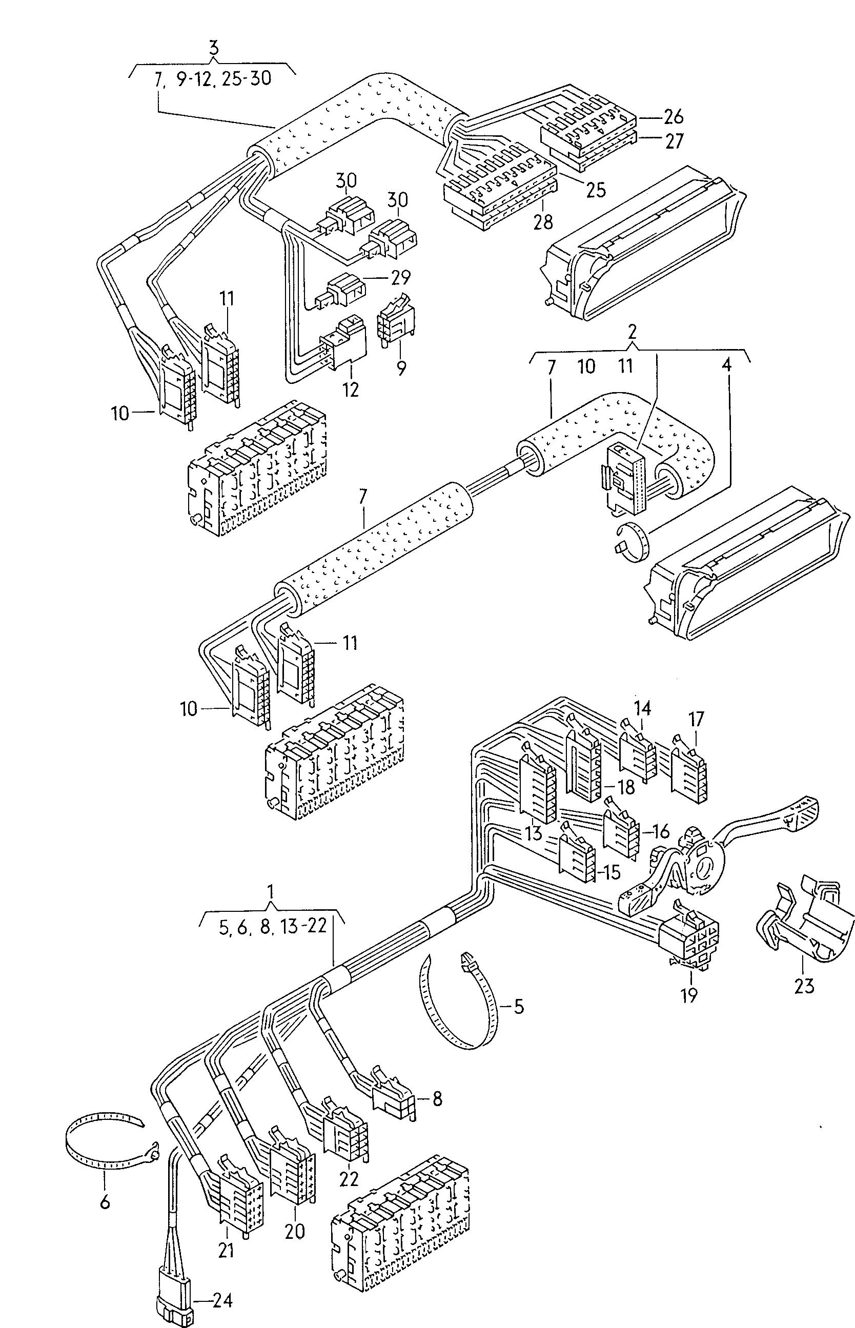 volkswagen golf (1990 - 1992) / vag etka