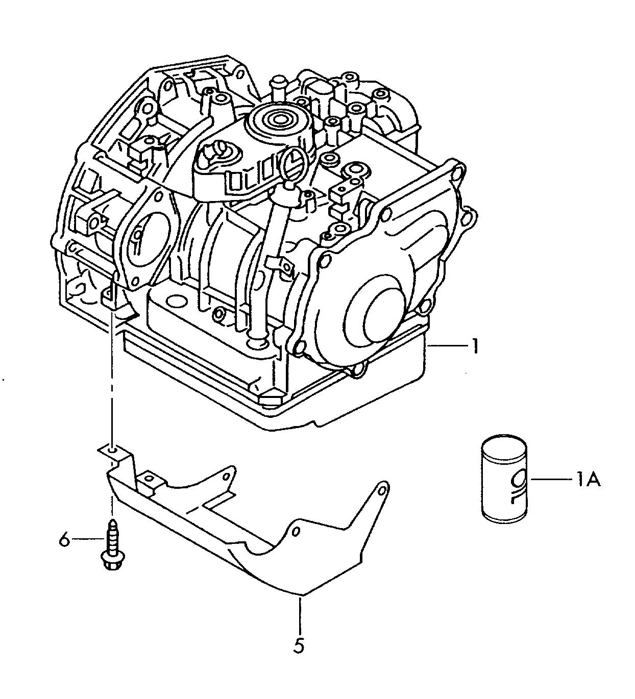 Volkswagen Golf Cabrio. (1996 - 1999) - gearbox, complete ...
