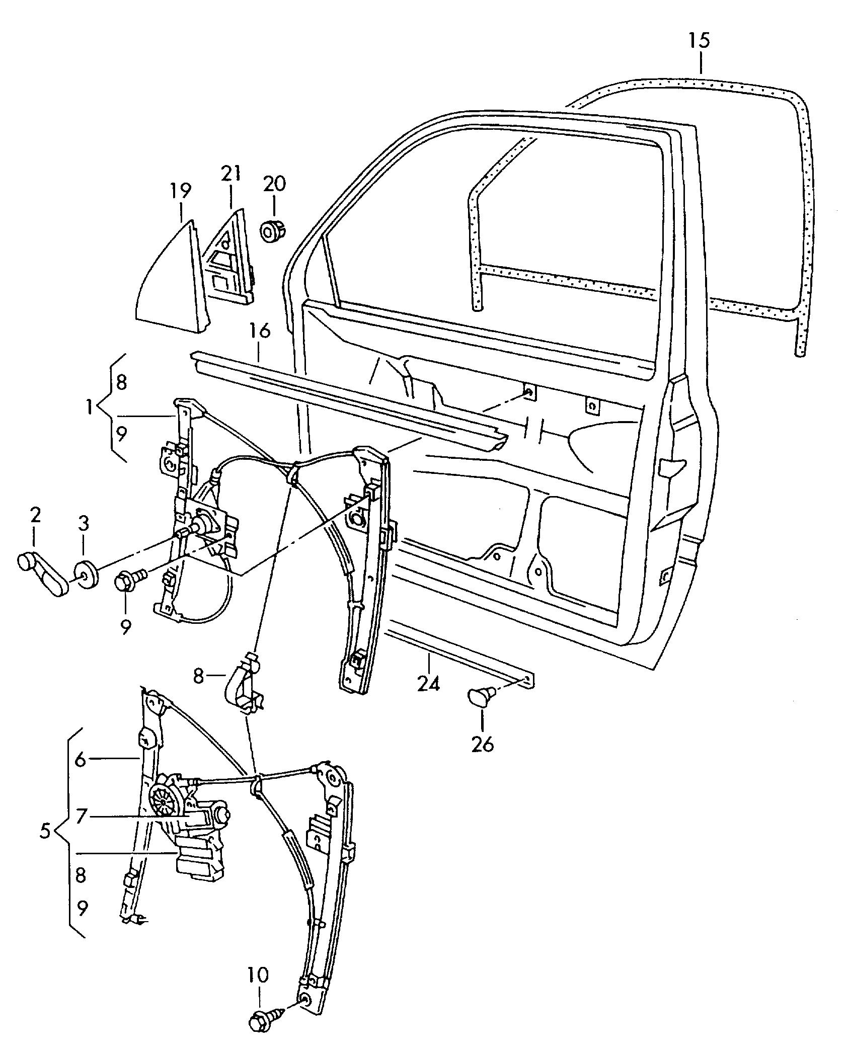 volkswagen jetta 1997 1999 window regulator vag etka online 1995 Mitsubishi Eclipse volkswagen jetta 1997 1999 vag etka