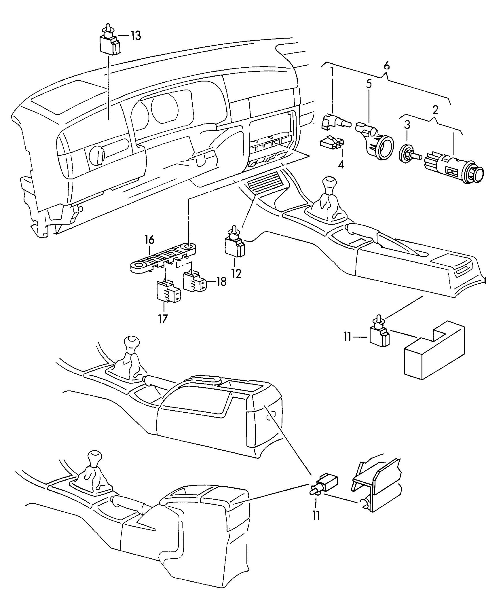 Volkswagen Clasico Jetta 1993 1996 Cigarette Lighter Bulb Vw Engine Diagram Vag Etka