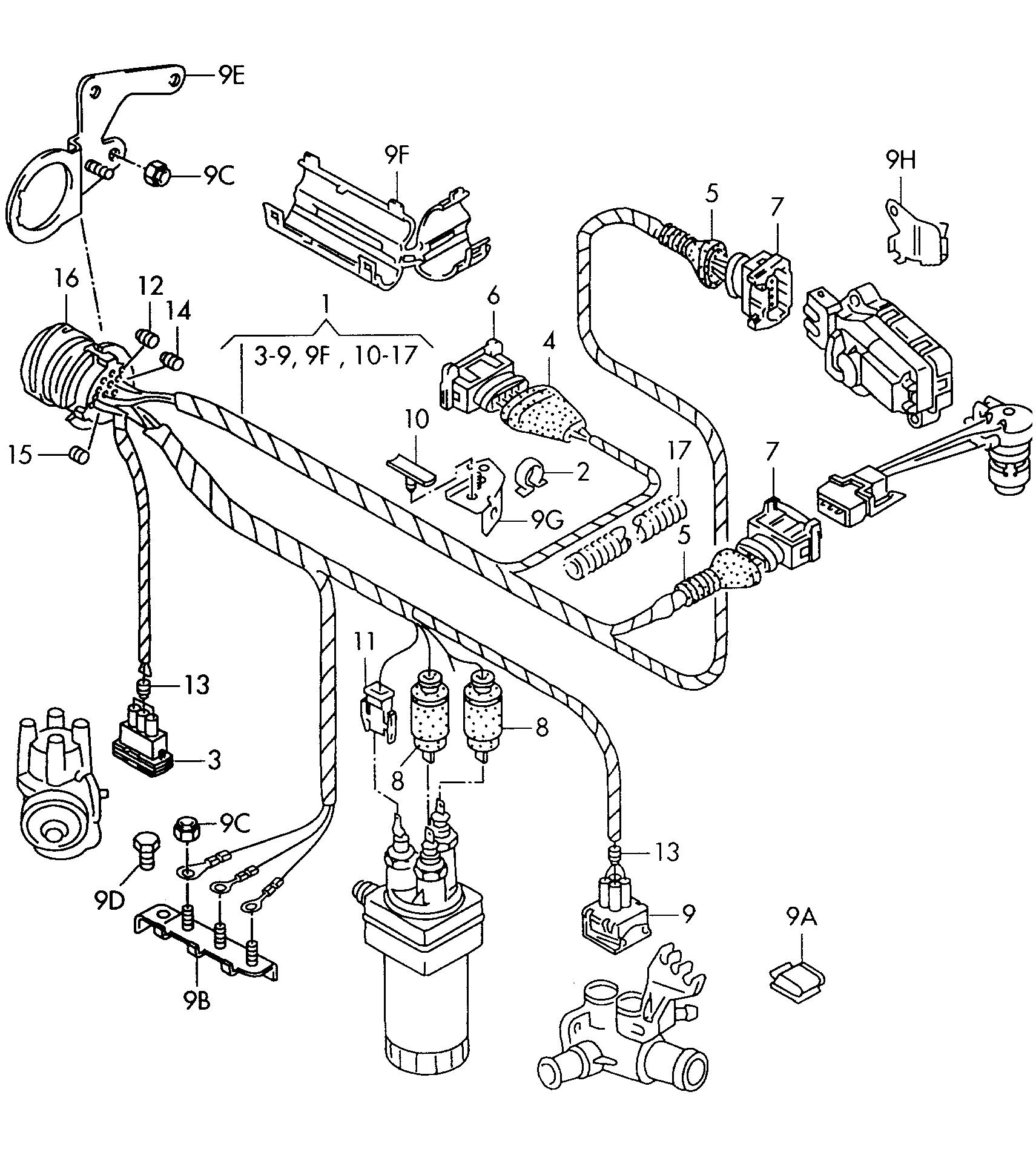 volkswagen citi golf 1996 2009 wire set vag etka. Black Bedroom Furniture Sets. Home Design Ideas