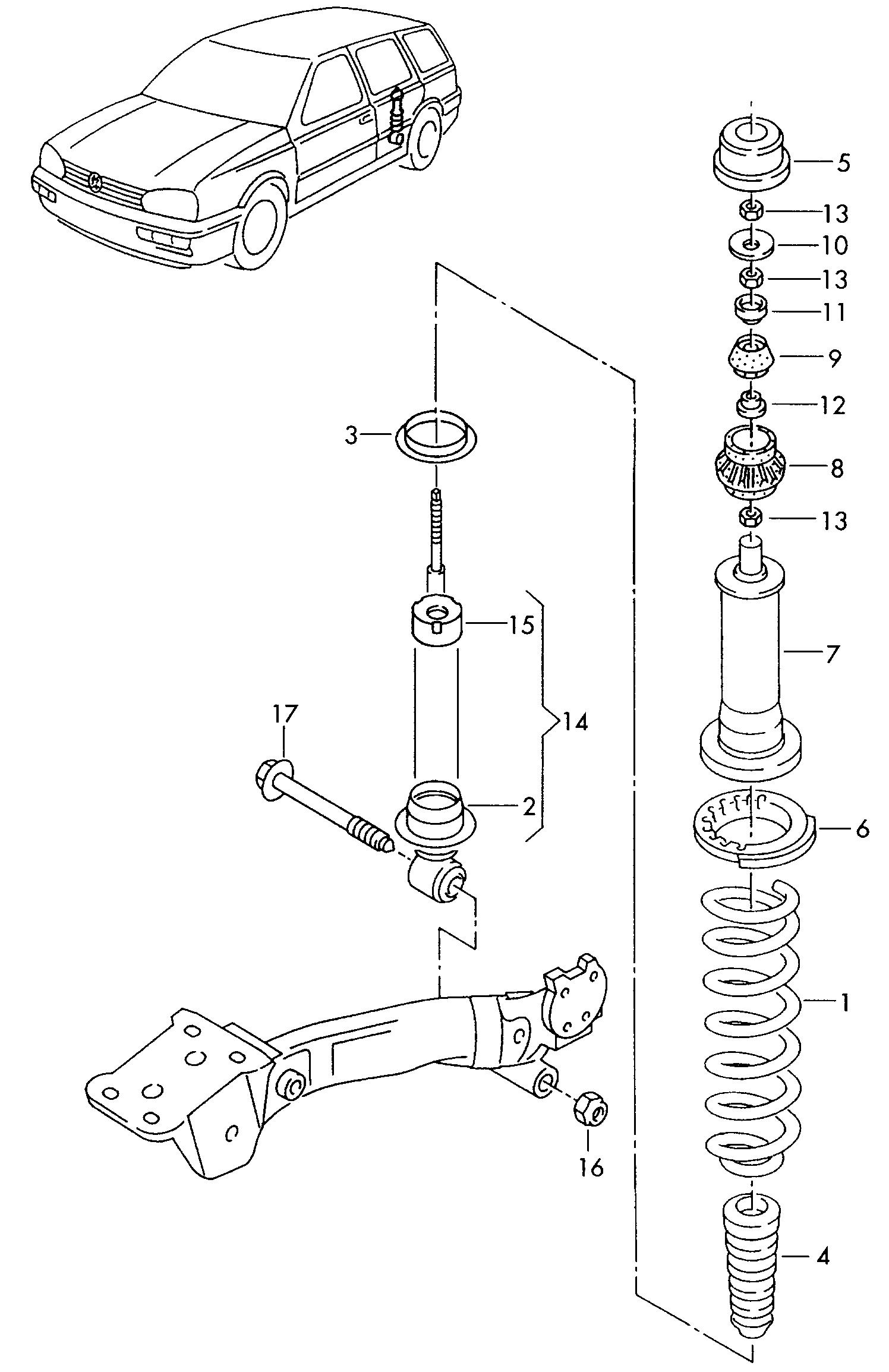 Volkswagen Vento (1997 - 1998) - suspension  > VAG ETKA Online