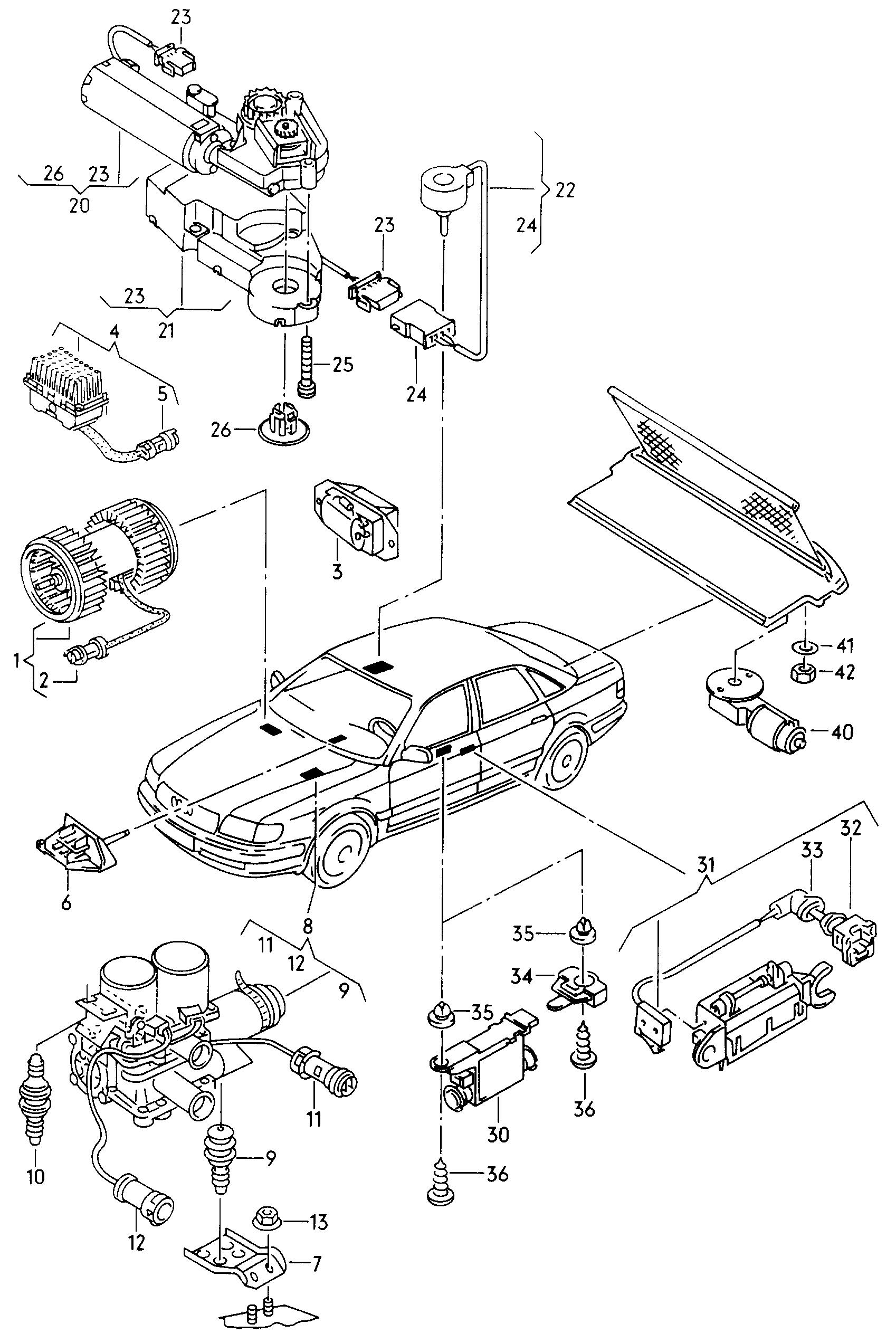 Audi A8 S8 Quattro 1999 2003 Sliding Roof Motor Fan Valve Engine Diagram Vag Etka