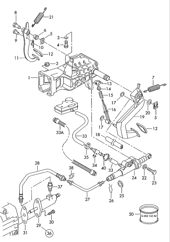 Volkswagen Lt 4x4 1997 2003 Brems Und Kupplungsfusshebel Vw Engine 3d Diagram Vag Etka