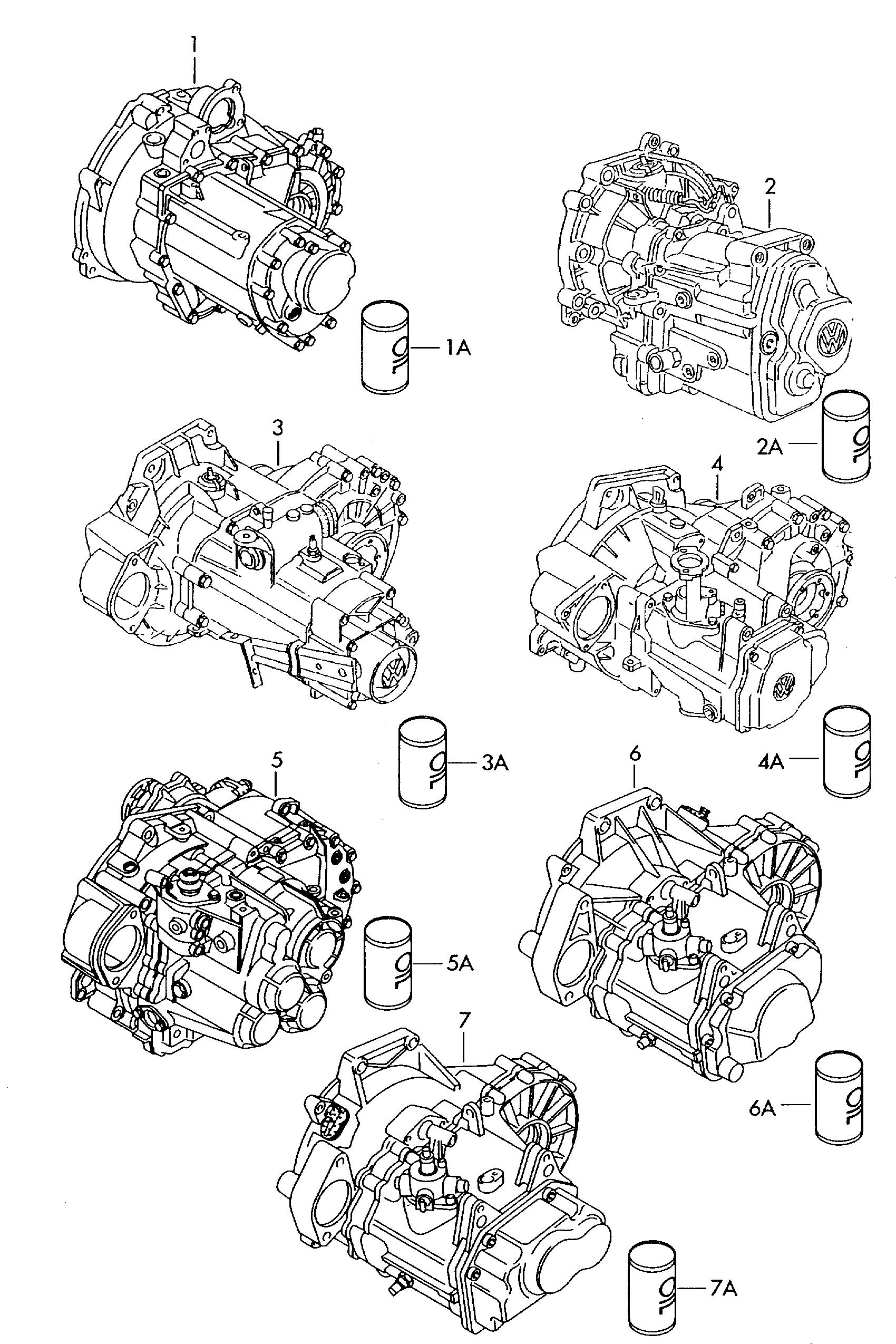 Volkswagen Jetta (1999 - 2001) - 5 & 6 speed manual gearbox