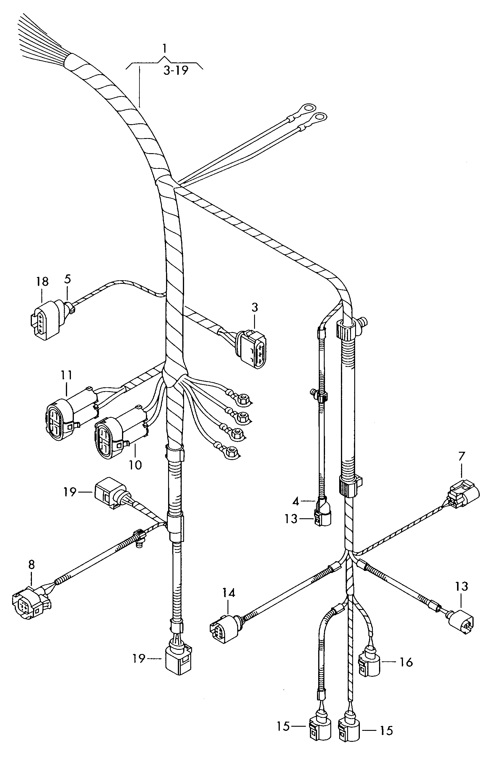 Volkswagen Sharan 2006 2008 For Radiator Fan Wiring Set Diagram Vag Etka