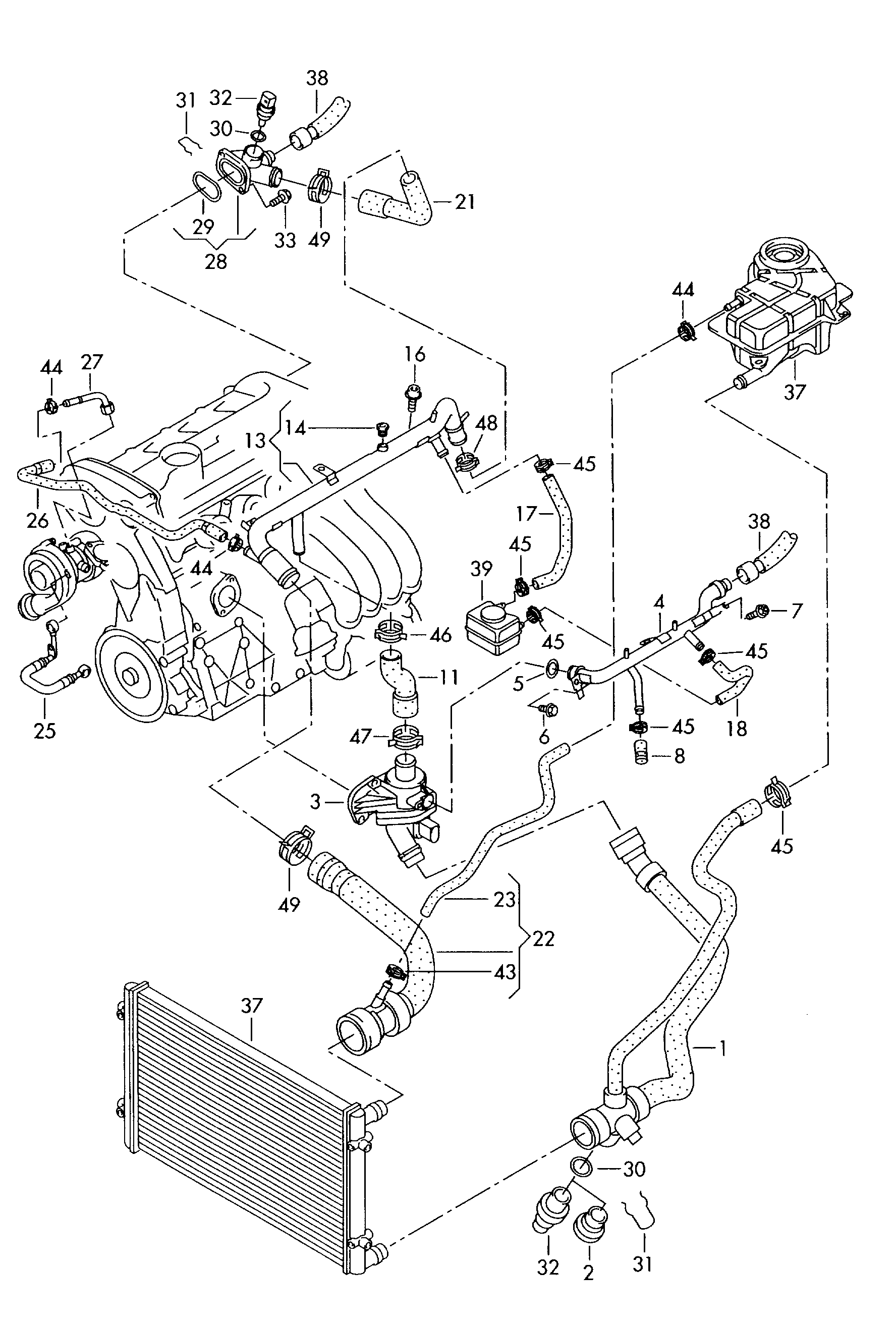 of of 2001 audi a4 cooling system schematic