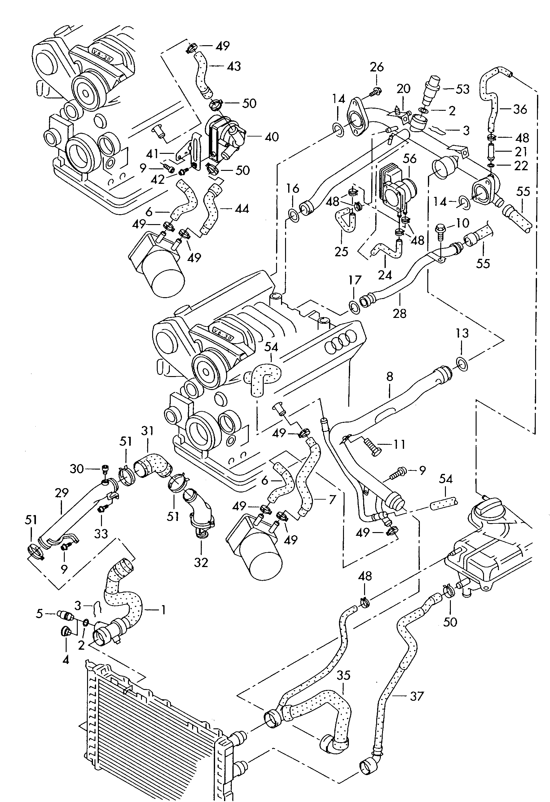 Audi A4 Cooling System Diagram