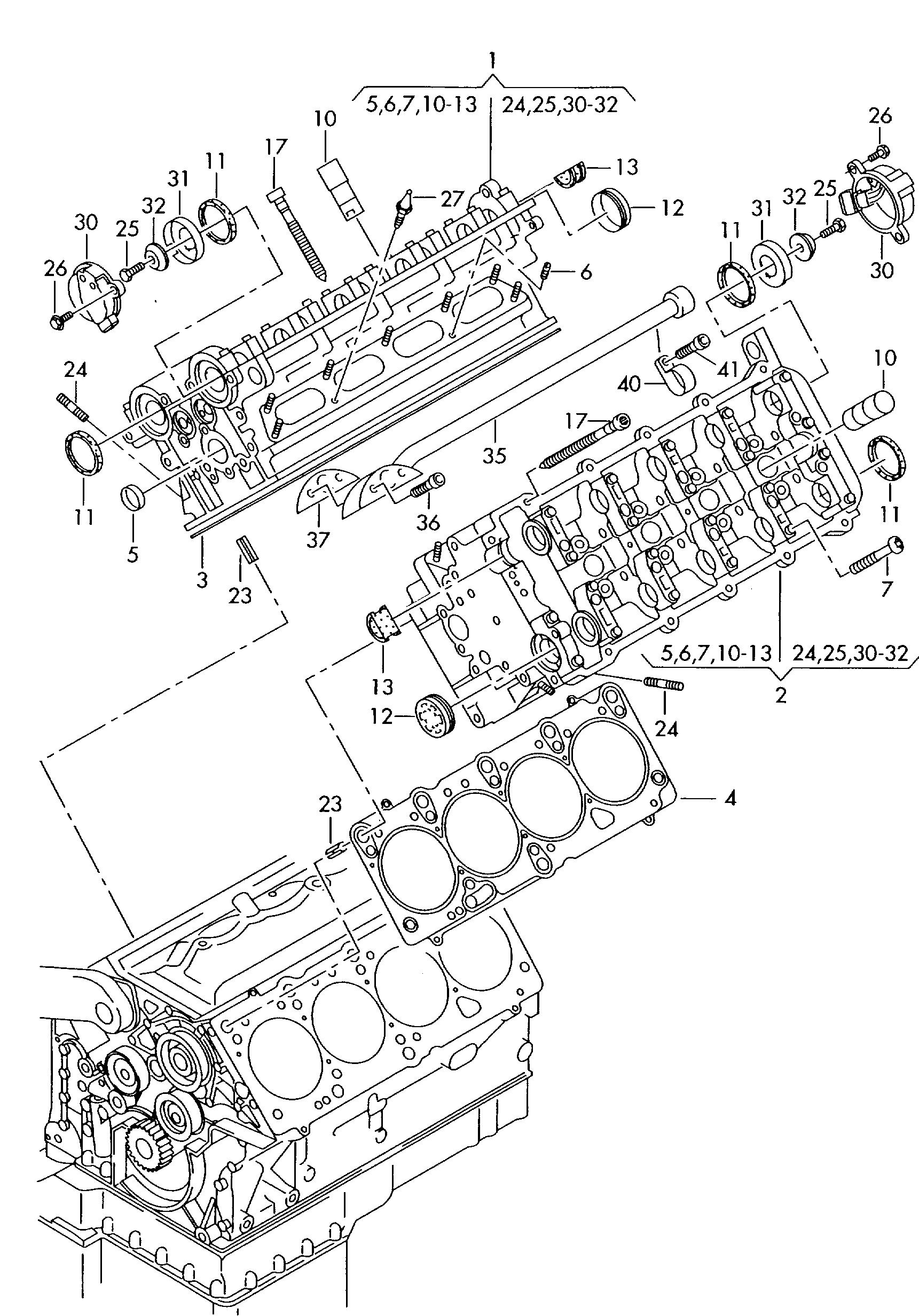 Audi A8 1999 2003 Zylinderkopf Vag Etka Online Nemigacom Engine Diagram
