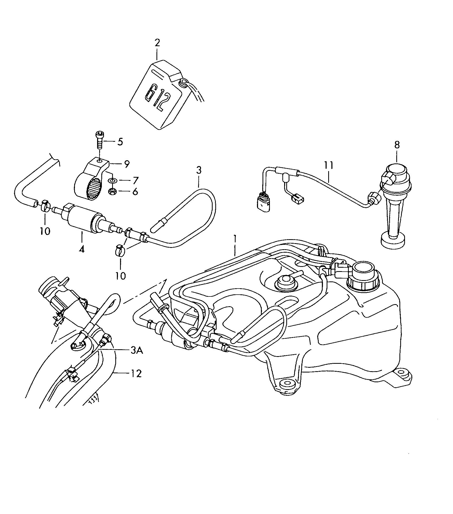 vw touareg fuel system diagram
