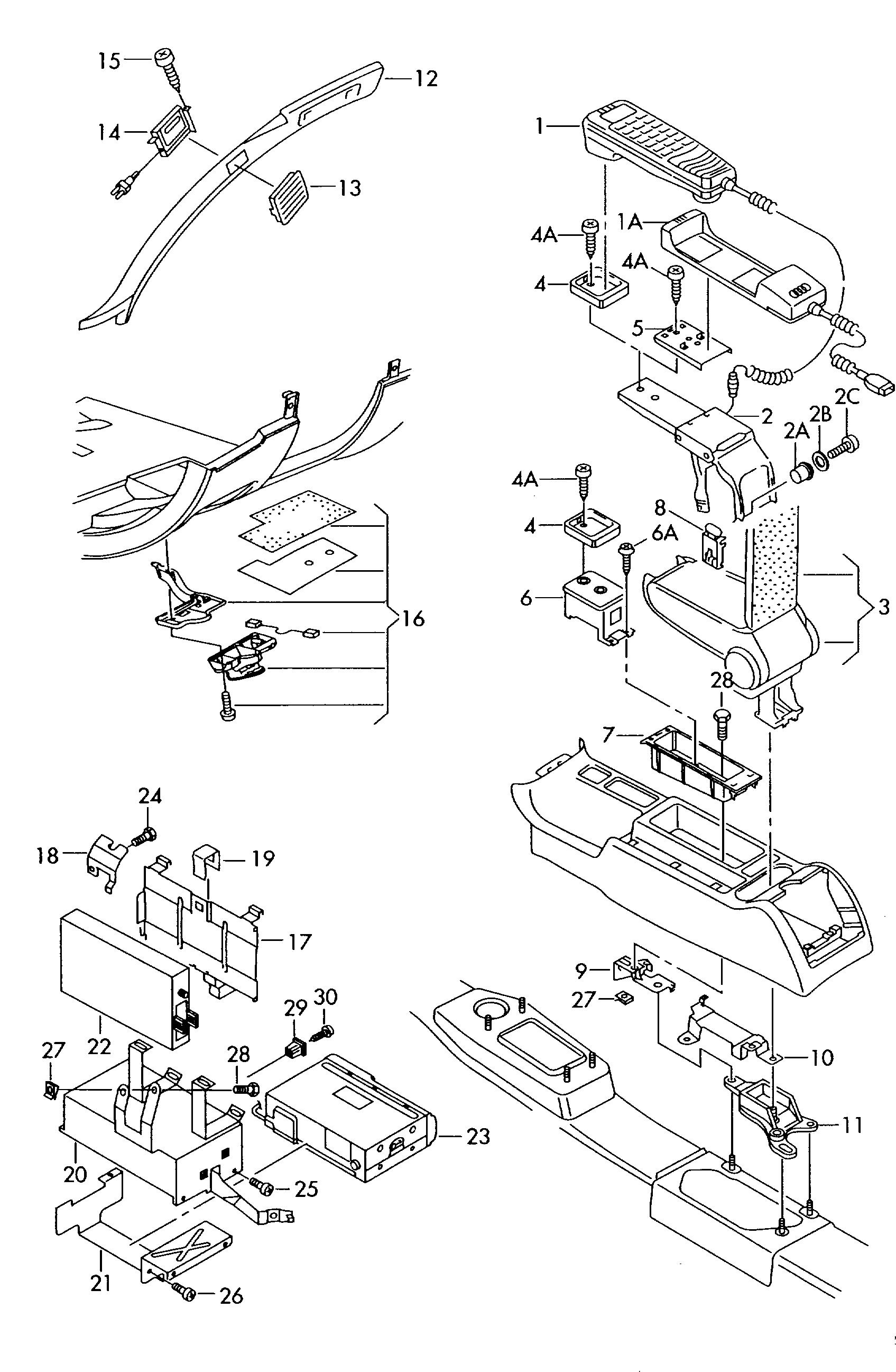 audi a6 avant 1998 2001 telephone bracket with parts kit for Ariens Snowblower Parts audi a6 avant 1998 2001 vag etka