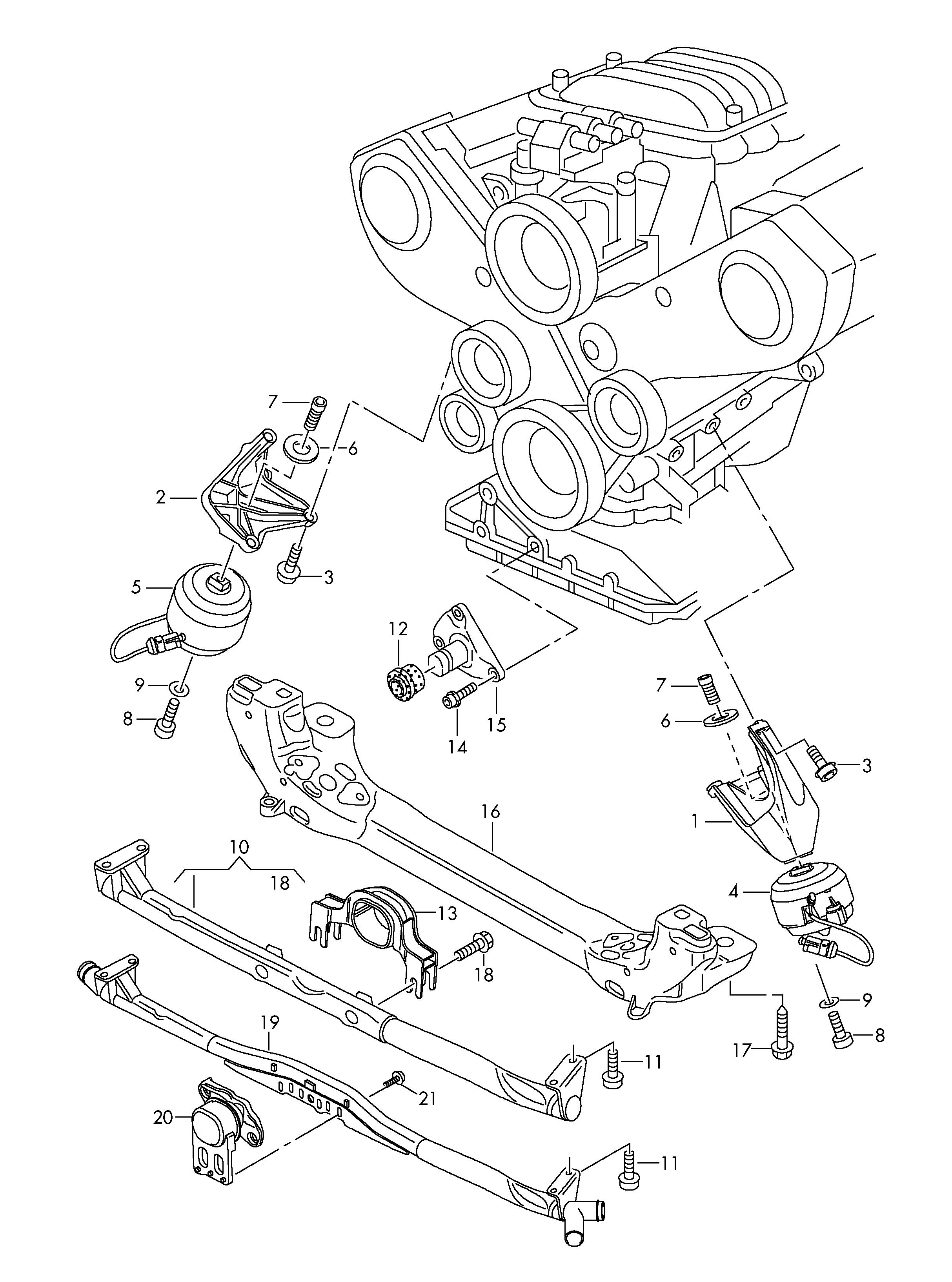Audi A8 (2004 - 2007) - securing parts for engine. > VAG ETKA Online >  Nemiga.comnemigaparts.com