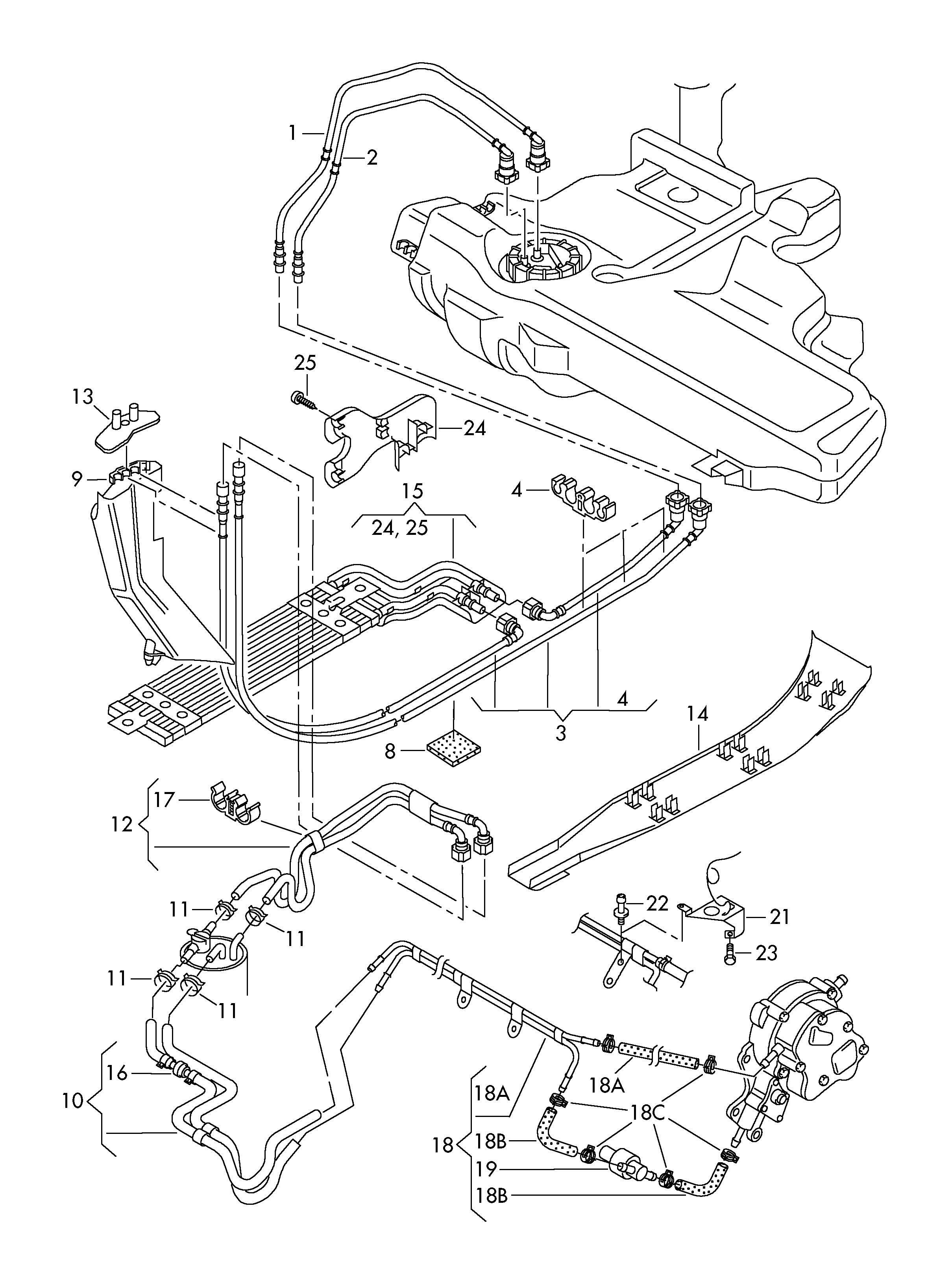 volkswagen jetta (2003 - 2006) / vag etka