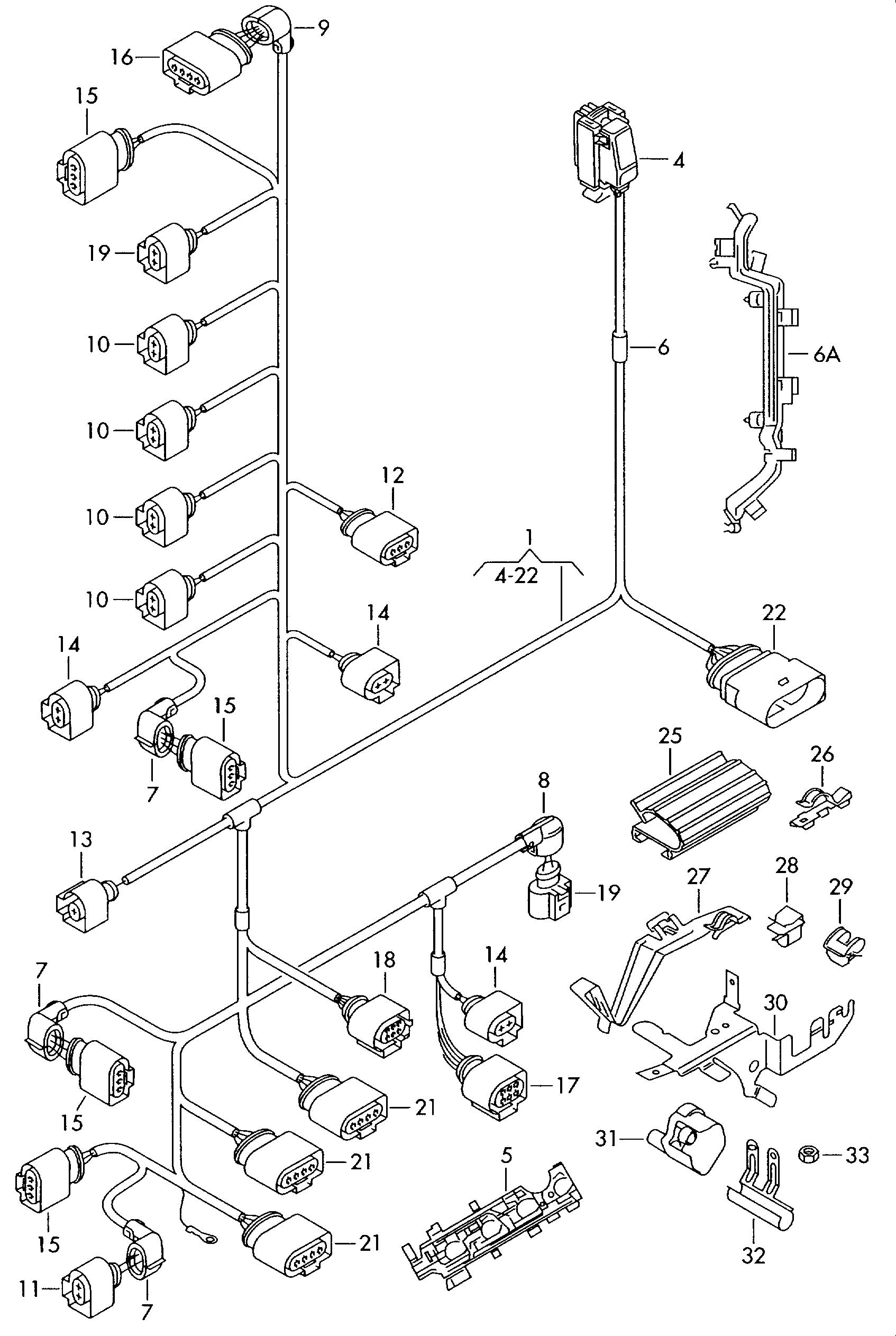 wiring harnes 2006 jettum