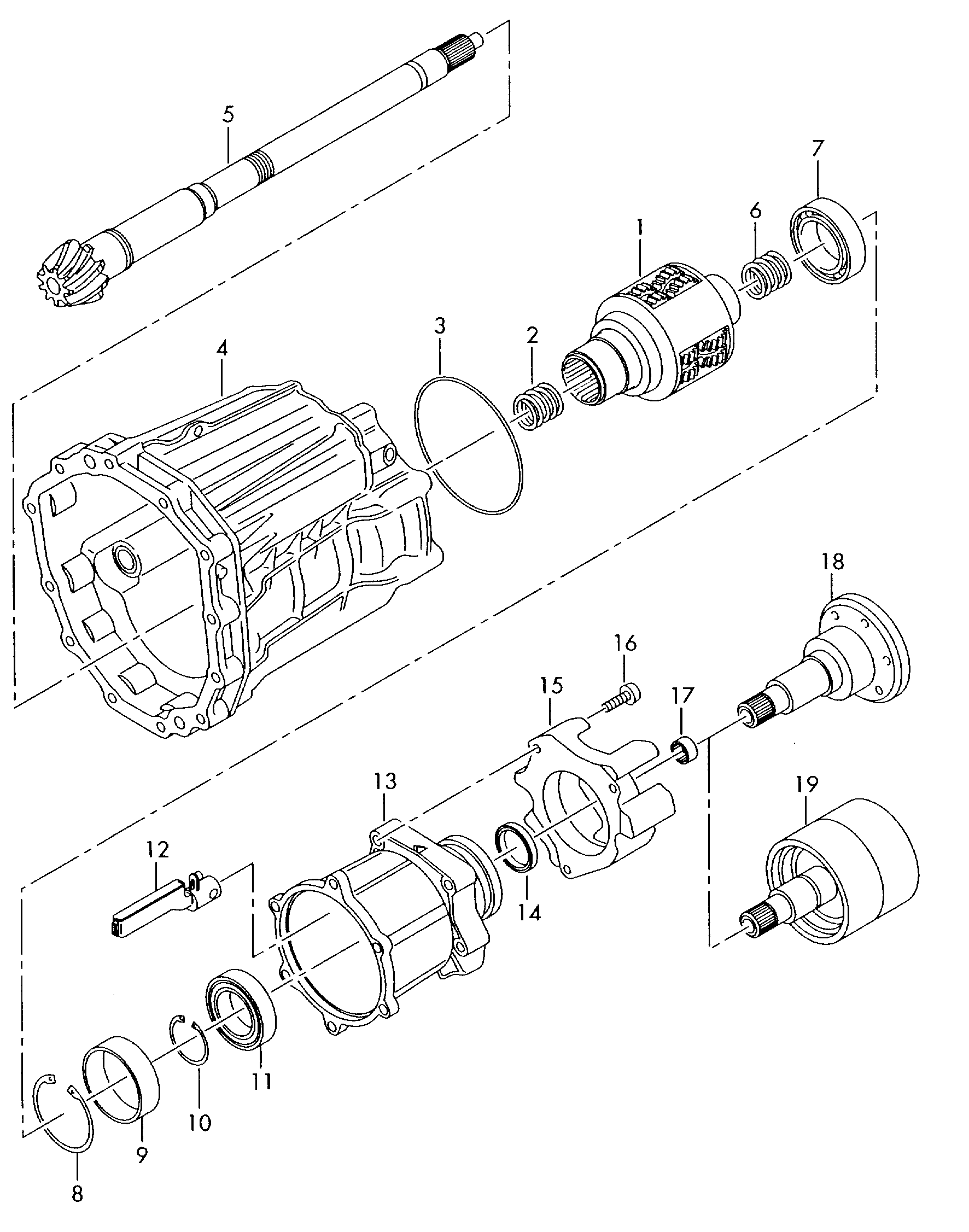Audi A4 Avant 2005 2008 Centre Differential Self Locking Engine Schematics Vag Etka
