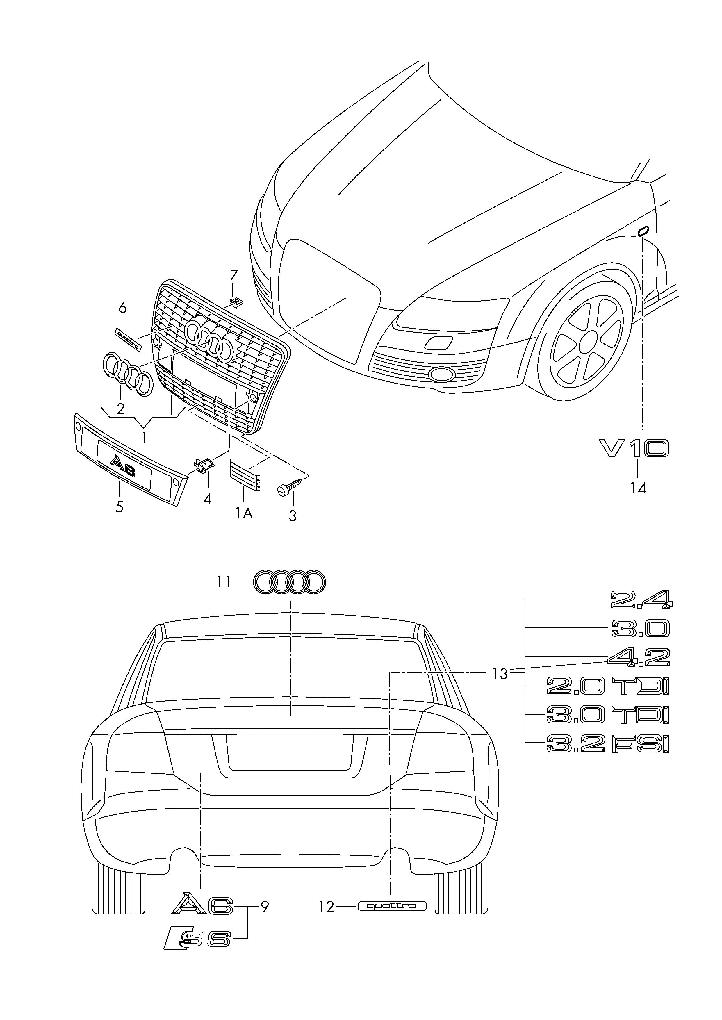 audi a6 s6 avant qu 2005 2008 inscriptions lettering 2001 Audi A6 Avant Quattro audi a6 s6 avant qu 2005 2008 vag etka
