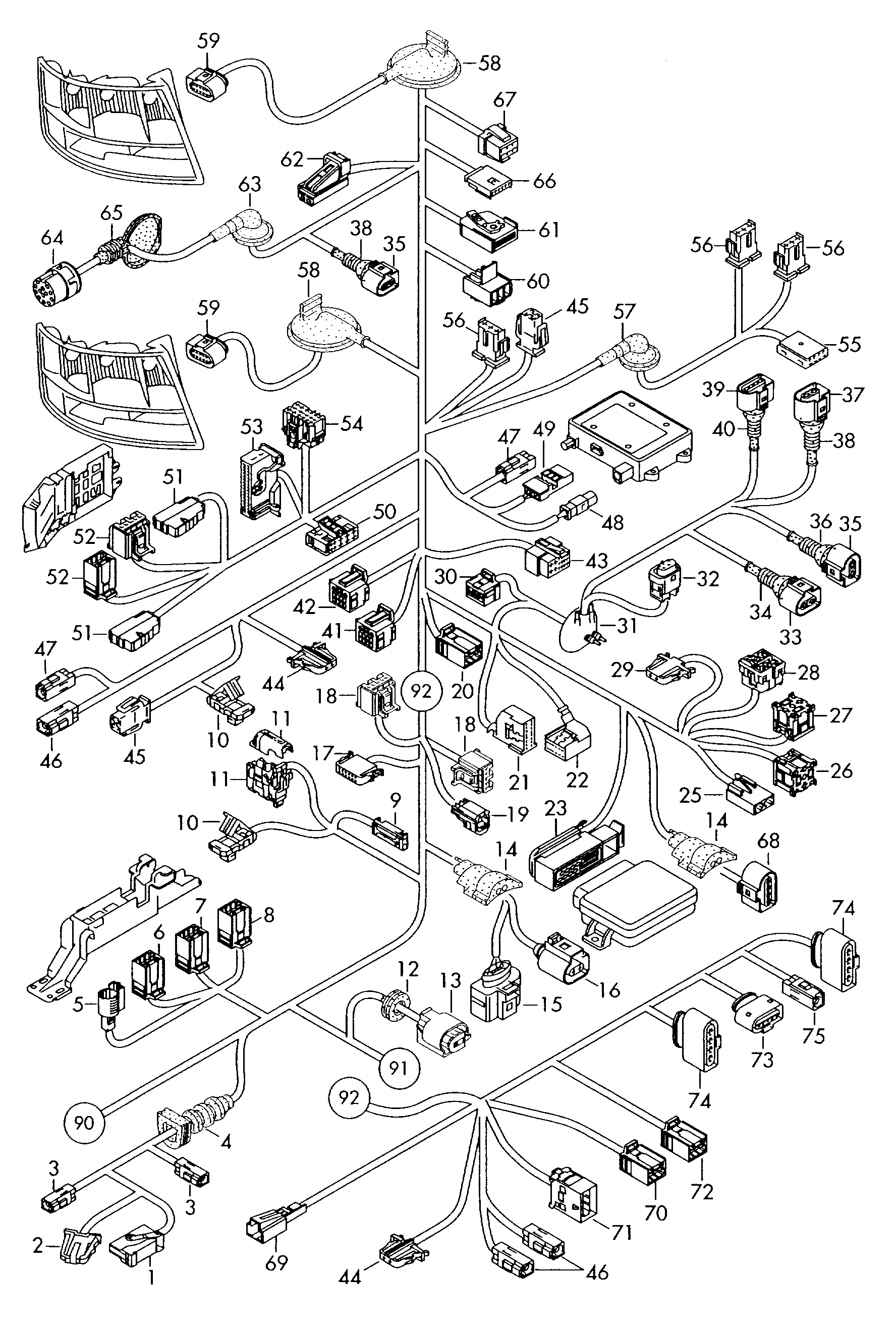 (2007 - 2011) - individual parts. wiring harness ...