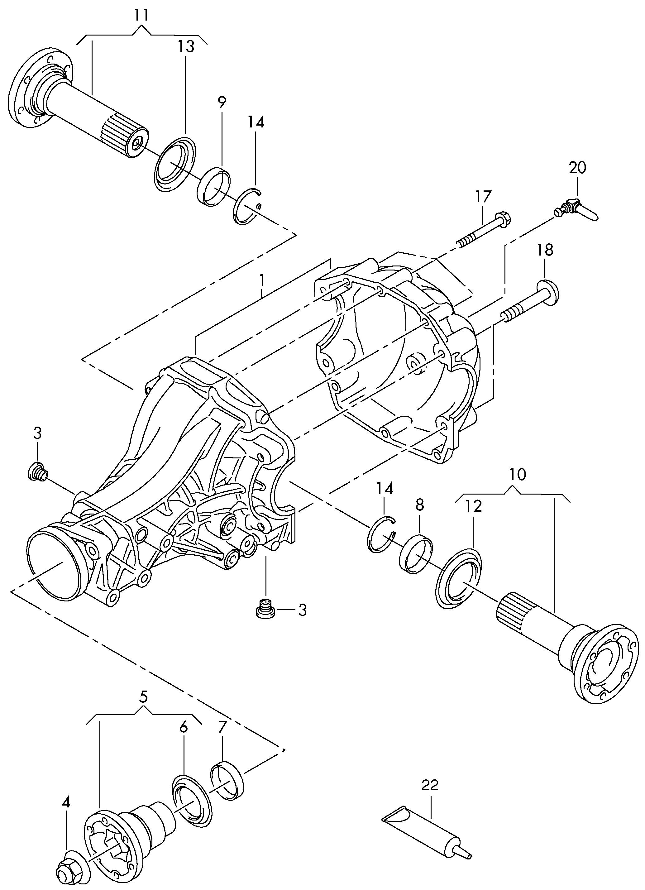 Audi Q5 2013 2017 Flanged Shaft Rear Axle Housing Vag Etka Engine Diagram