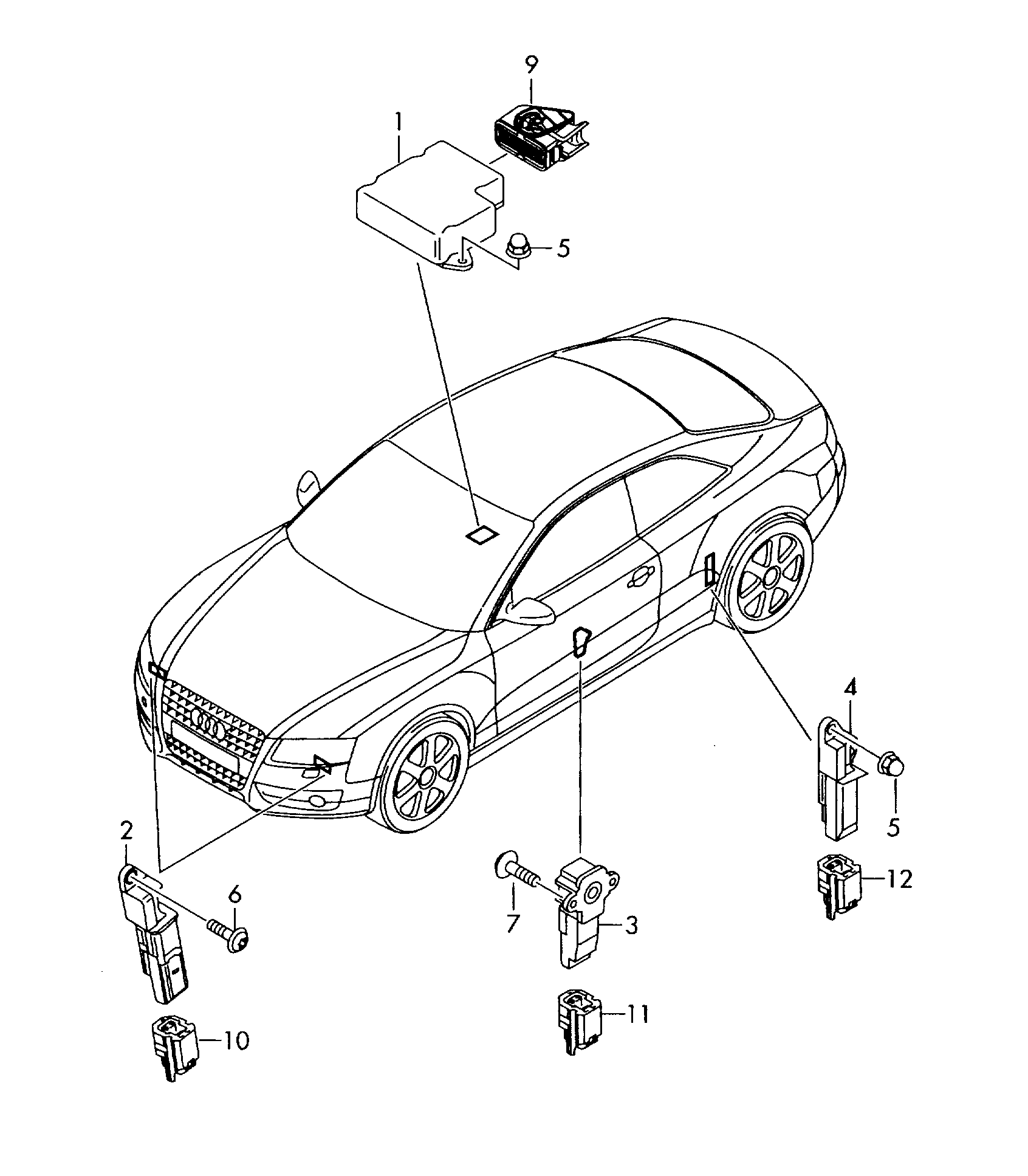 Audi A4L 2009 2017 observe svm code electrical parts for