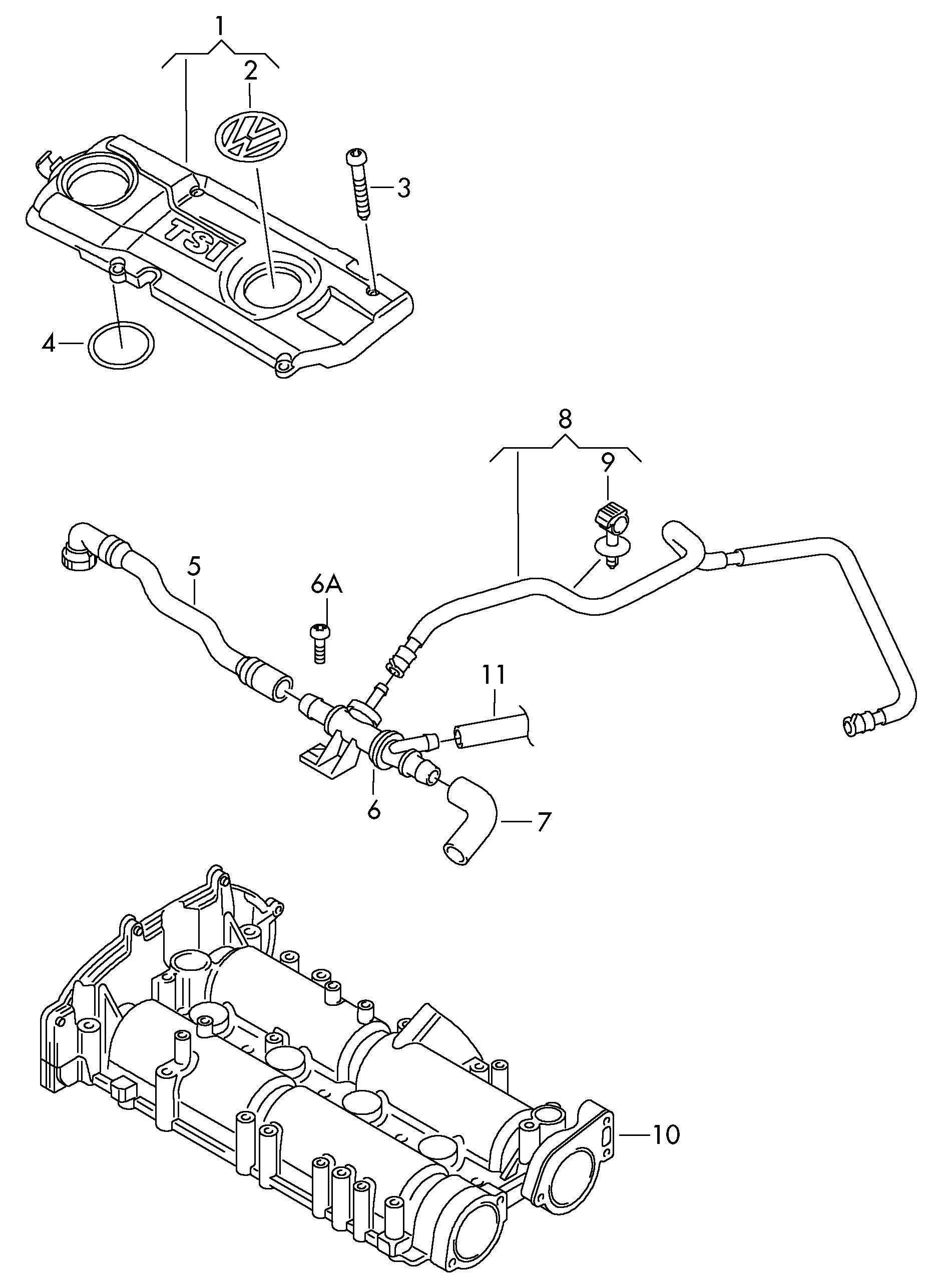 Volkswagen Tiguan 2012 2017 Ventilation For Cylinder Block Vw Engine Diagram Vag Etka