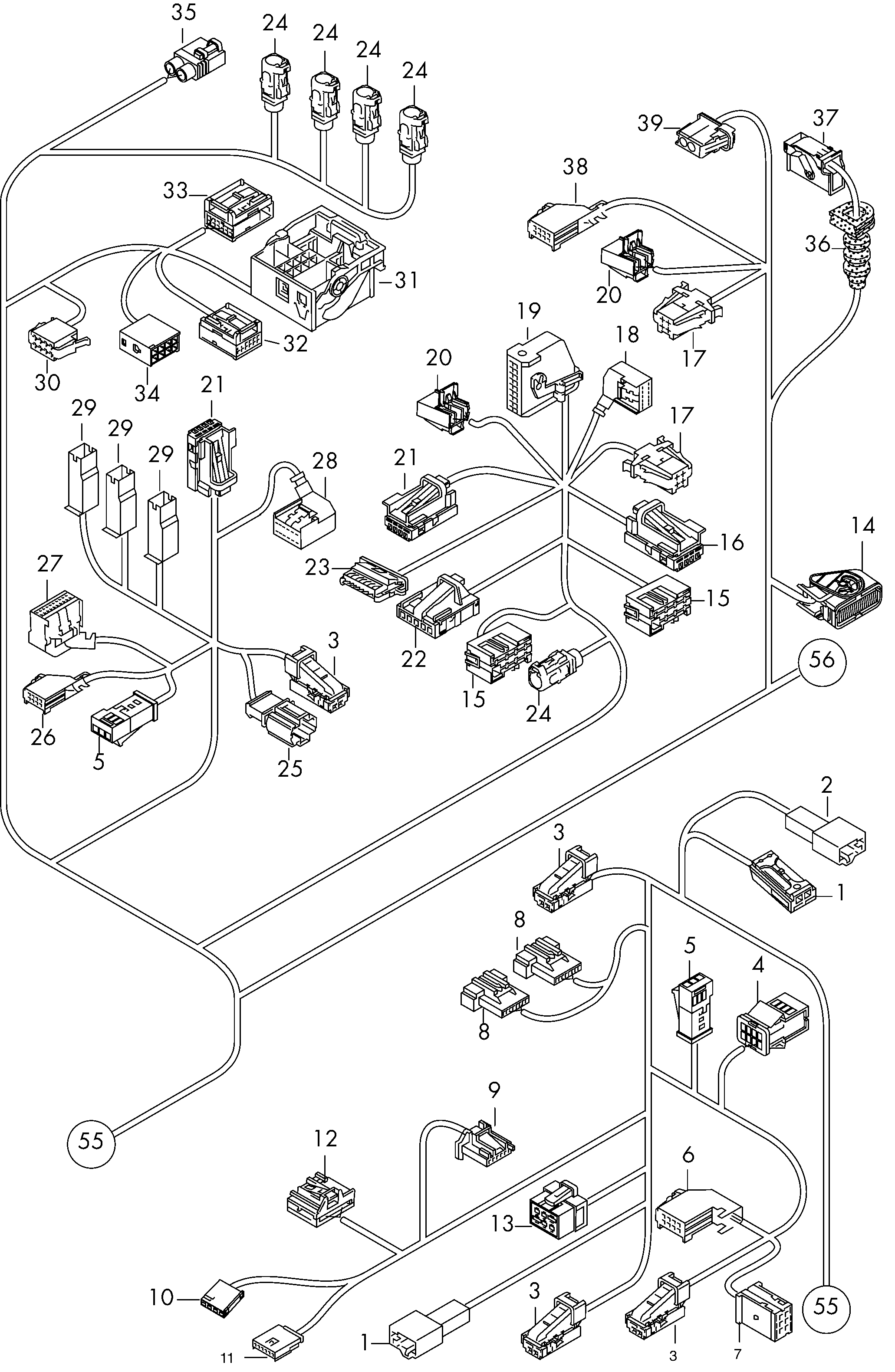 Audi Q5 2009 Wiring Diagram