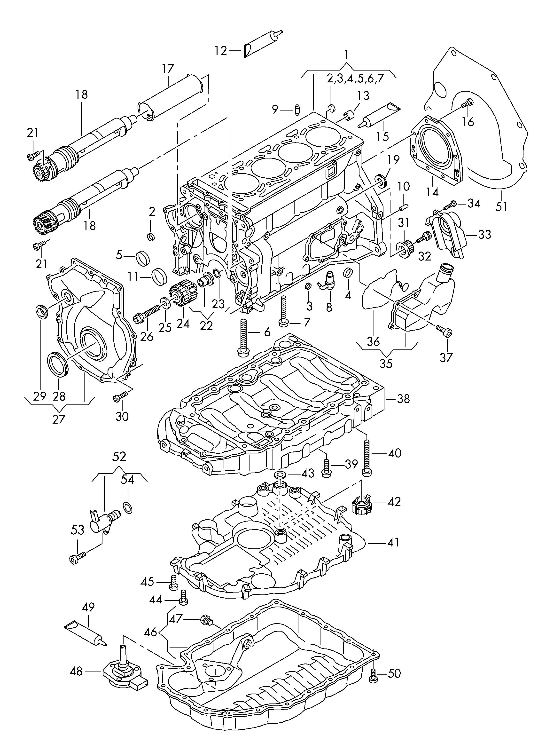 Volkswagen Tiguan 2012 2017 Oil Sump Balancer Shaft Vw Engine Diagram Vag Etka