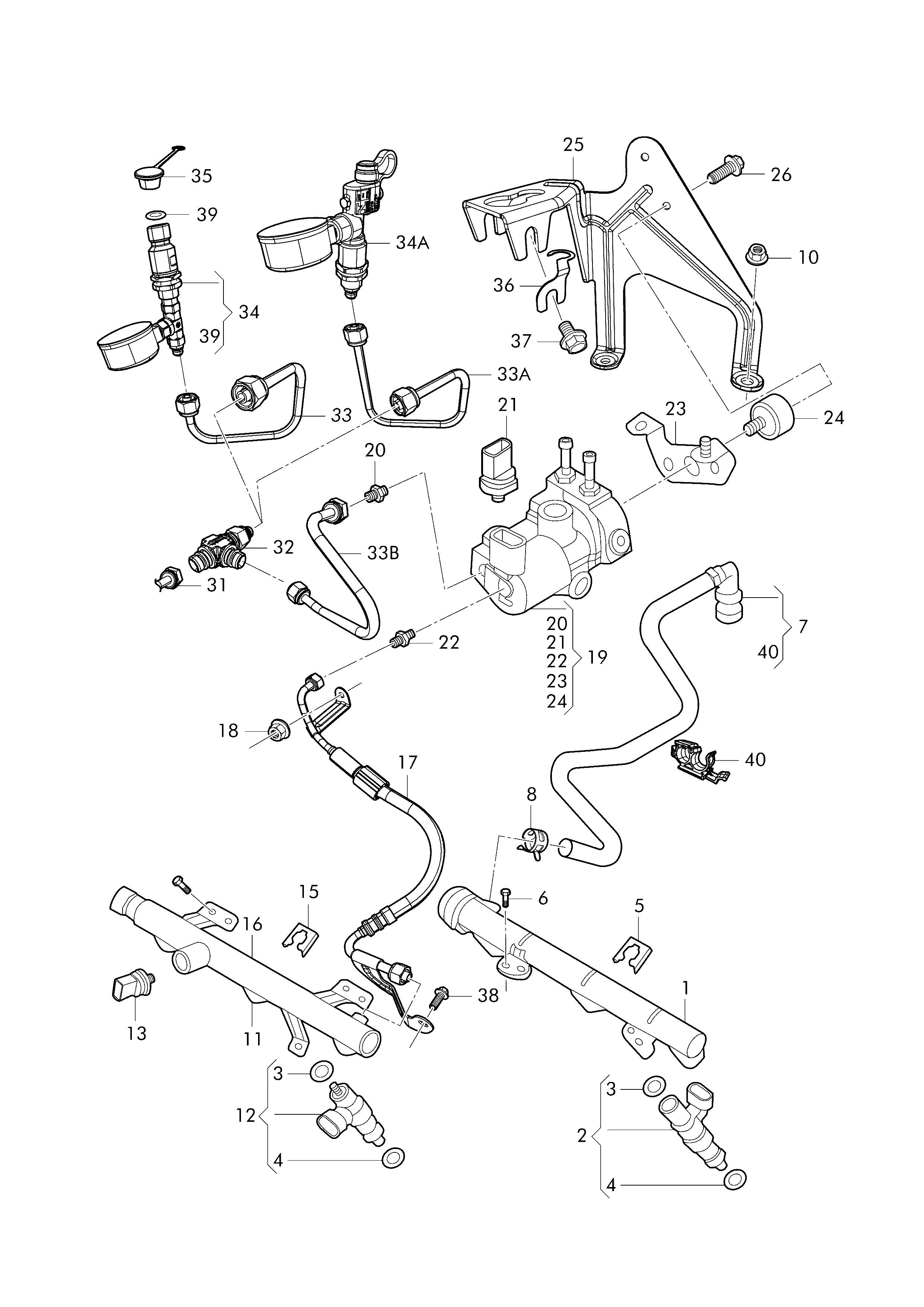 Volkswagen Jetta (2013 - 2017) - fuel rail  pressure