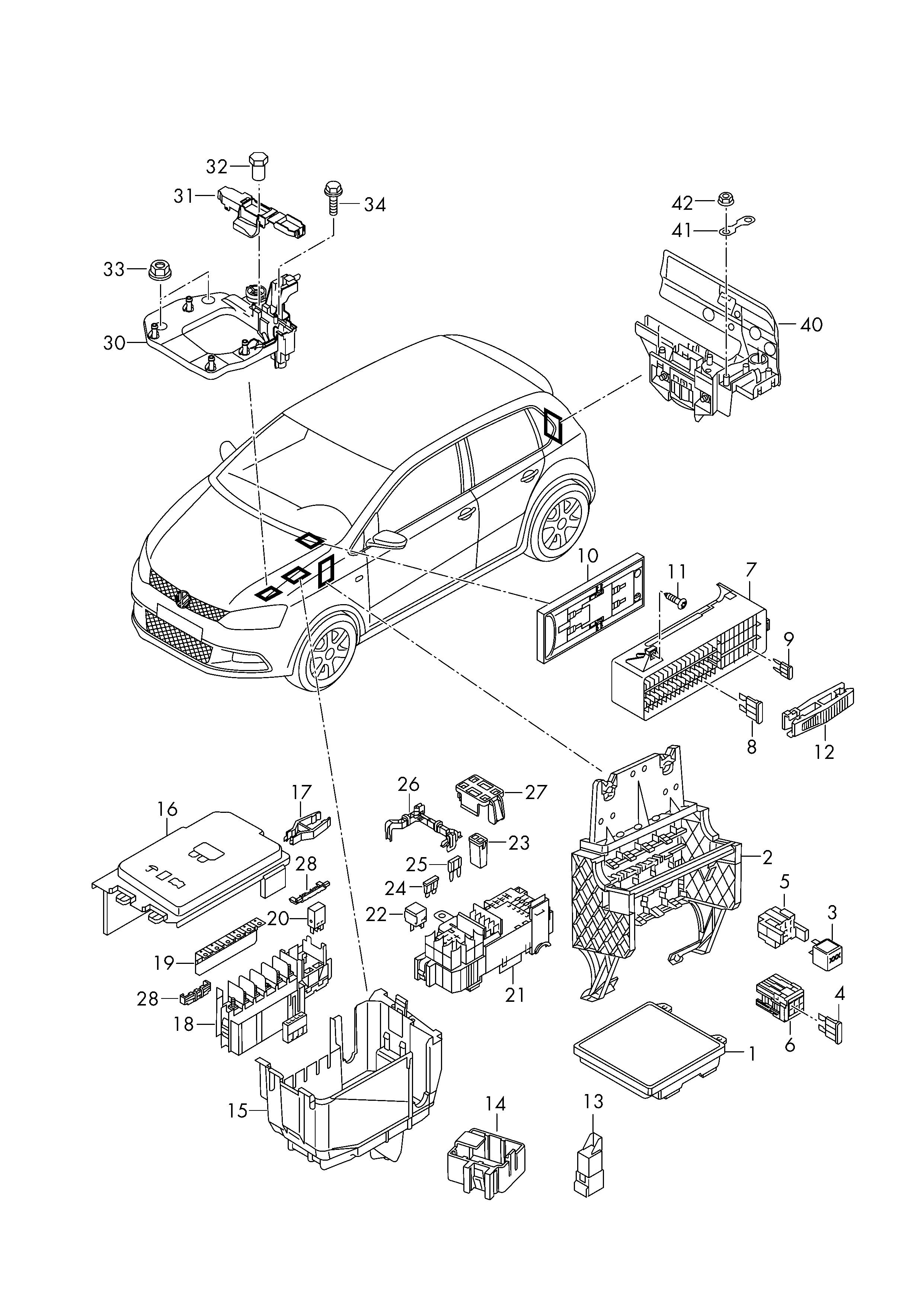Skoda Rapid Fuse Box Trusted Schematics Diagram Felicia 2013 2017 Relay Central Electrics Fuses U003e Vag Maserati
